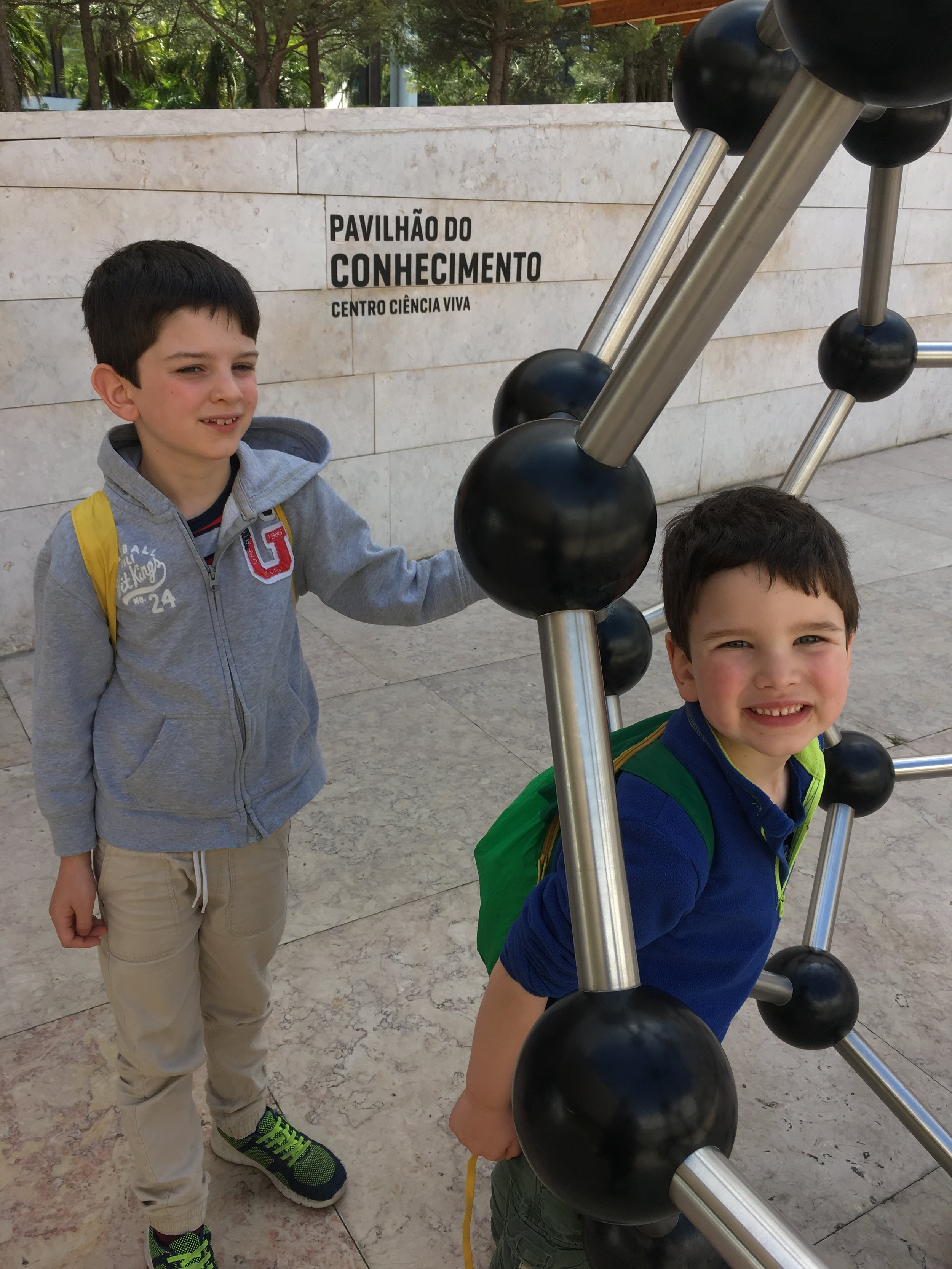 Outside Lisbon's Science Museum