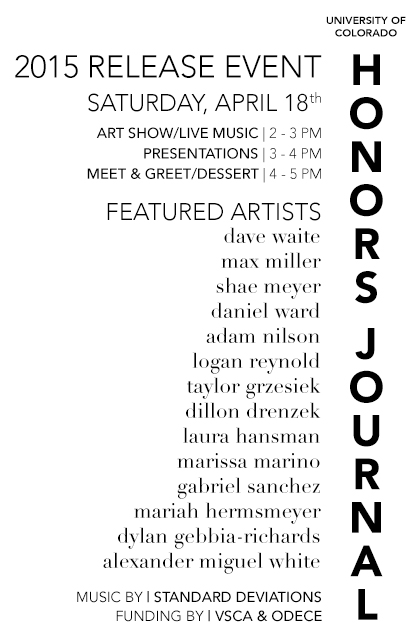 Honors Journal Release Event Pamphlet