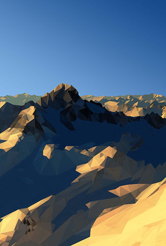Mountains Standing Digital Art