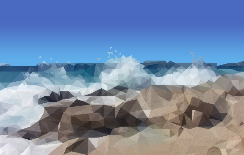 Waves Crashing Digital Art