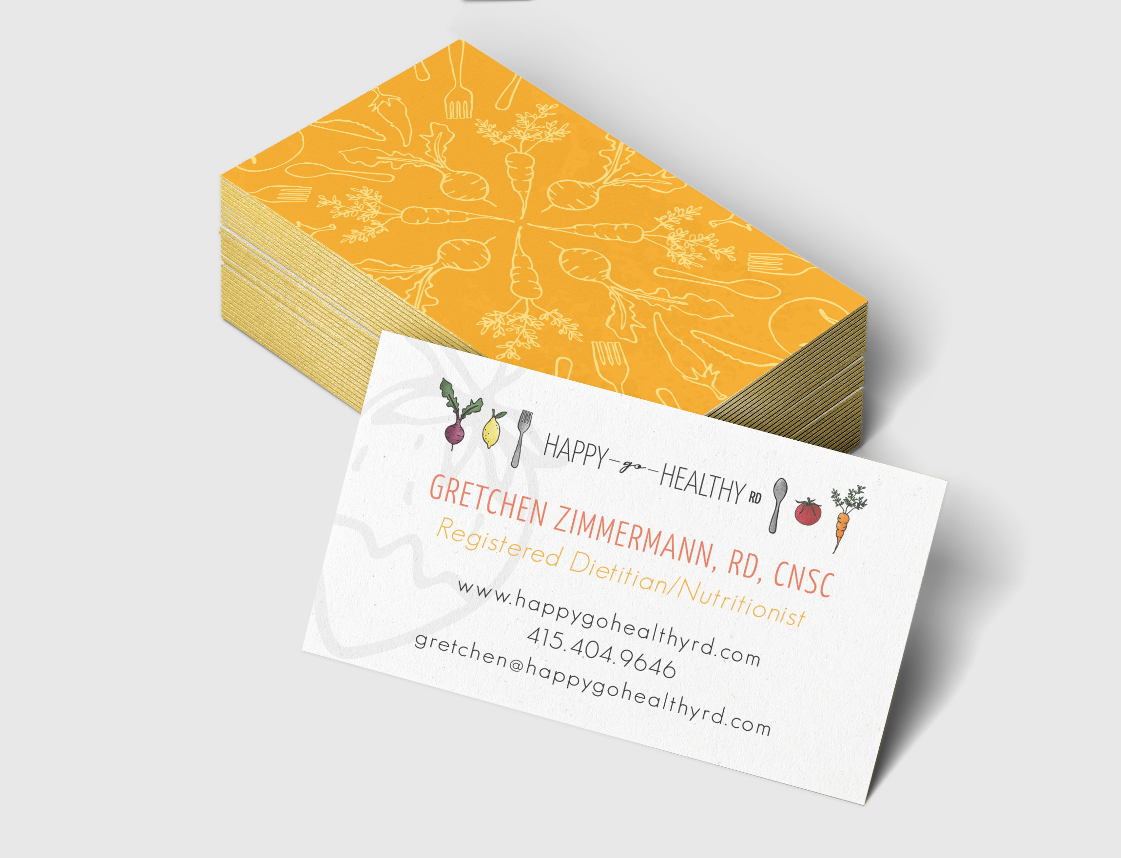 Four different business card designs