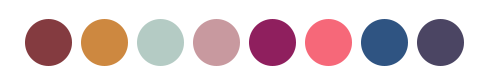 Possible color options for the first iteration of the logo
