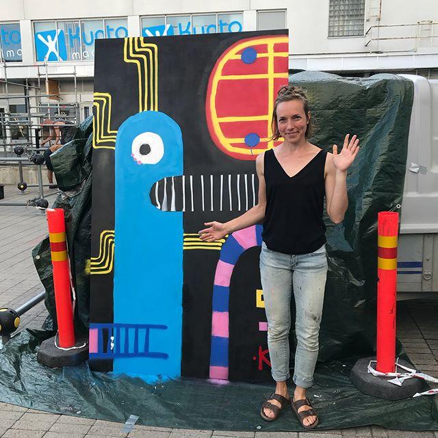 Payback Jamien maalaustiimi kiittää! Musiikin rytmittämänä lähtevät työt parkour tiimin Suomen kiertueelle #paybackjam #grexart #graffiti #parkour