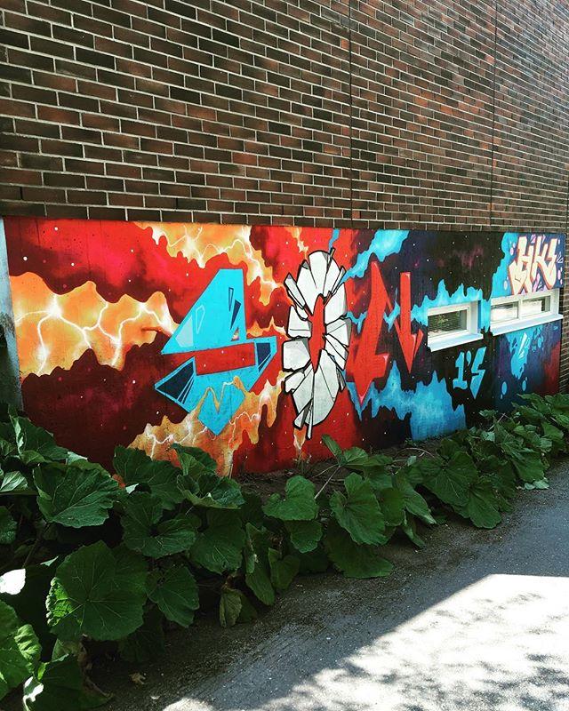 Rural Urban Art Laitilan ensimmäinen teos valmis! Kiitos Markus Nieminen 🌈🦄 #rua #ruralurbanart #grexart #grex #katutaide #wallpainting #kesä #art