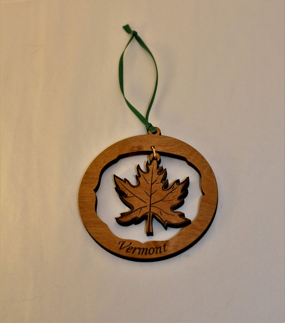 maple leaf swinging ornament shaw s general store shaw s general store