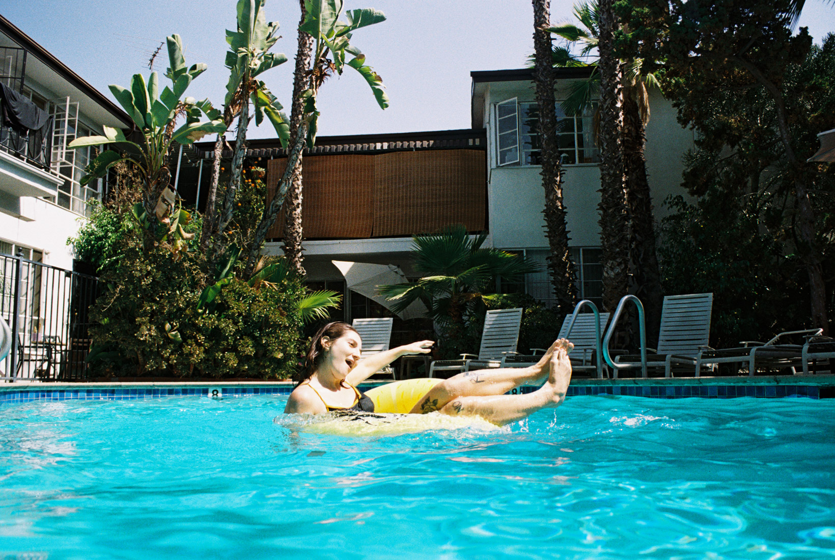 V swimming in West Hollywood