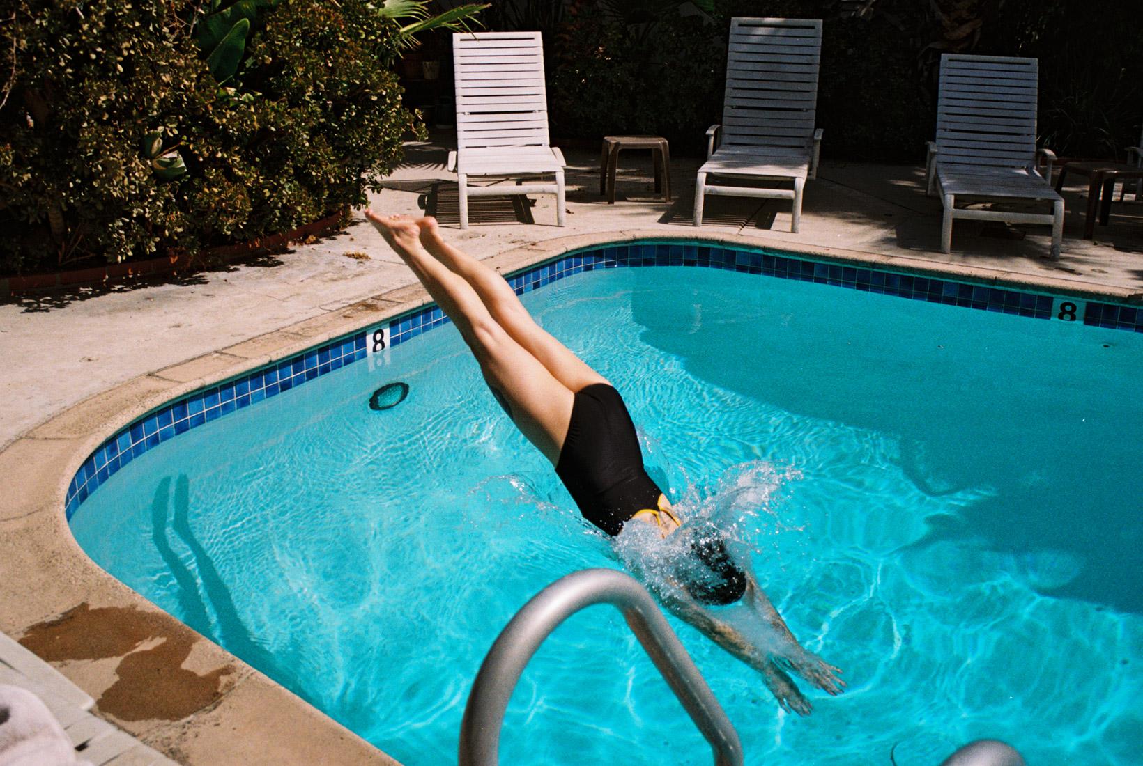 V diving in West Hollywood