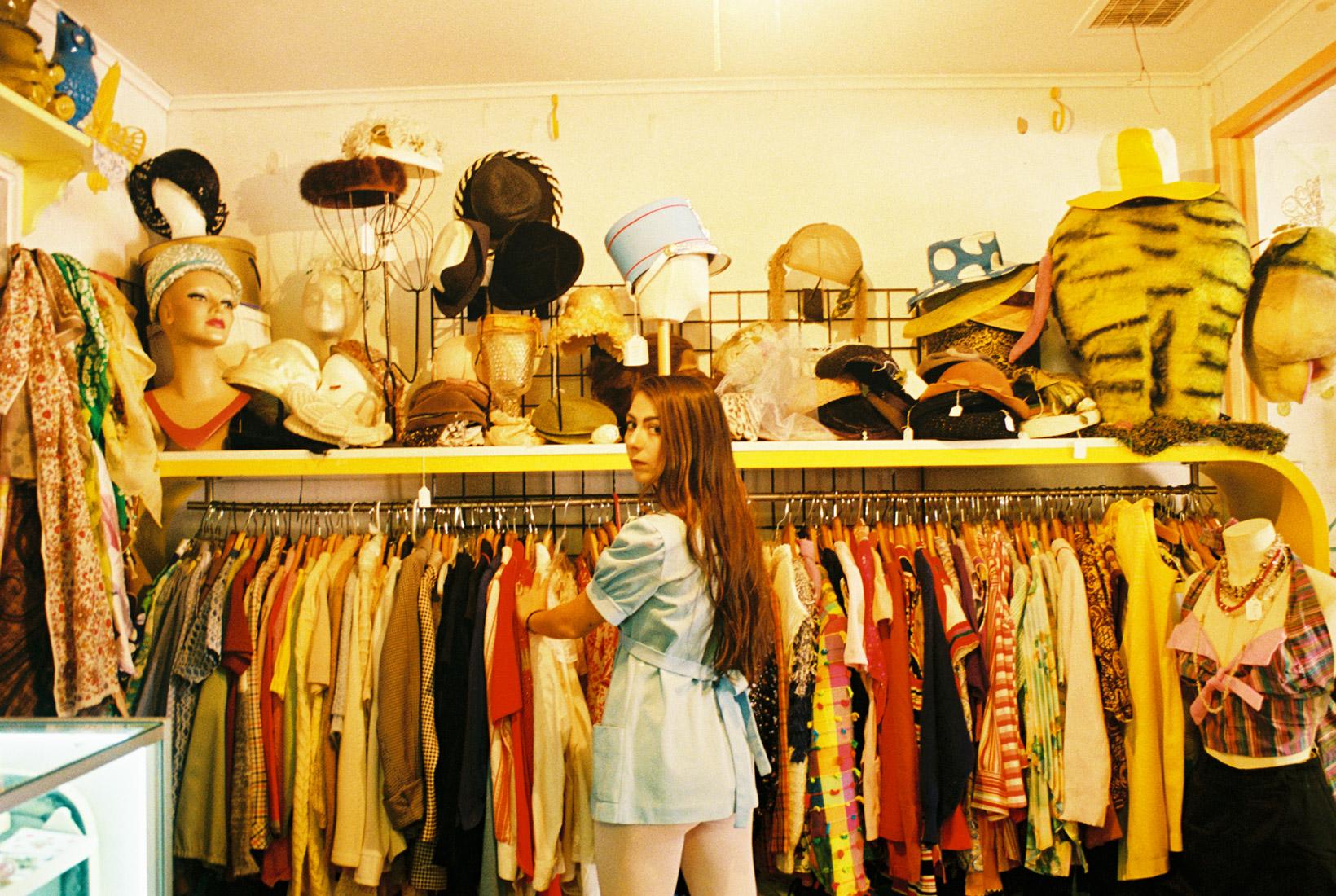 Cara vintage shopping in downtown Las Vegas