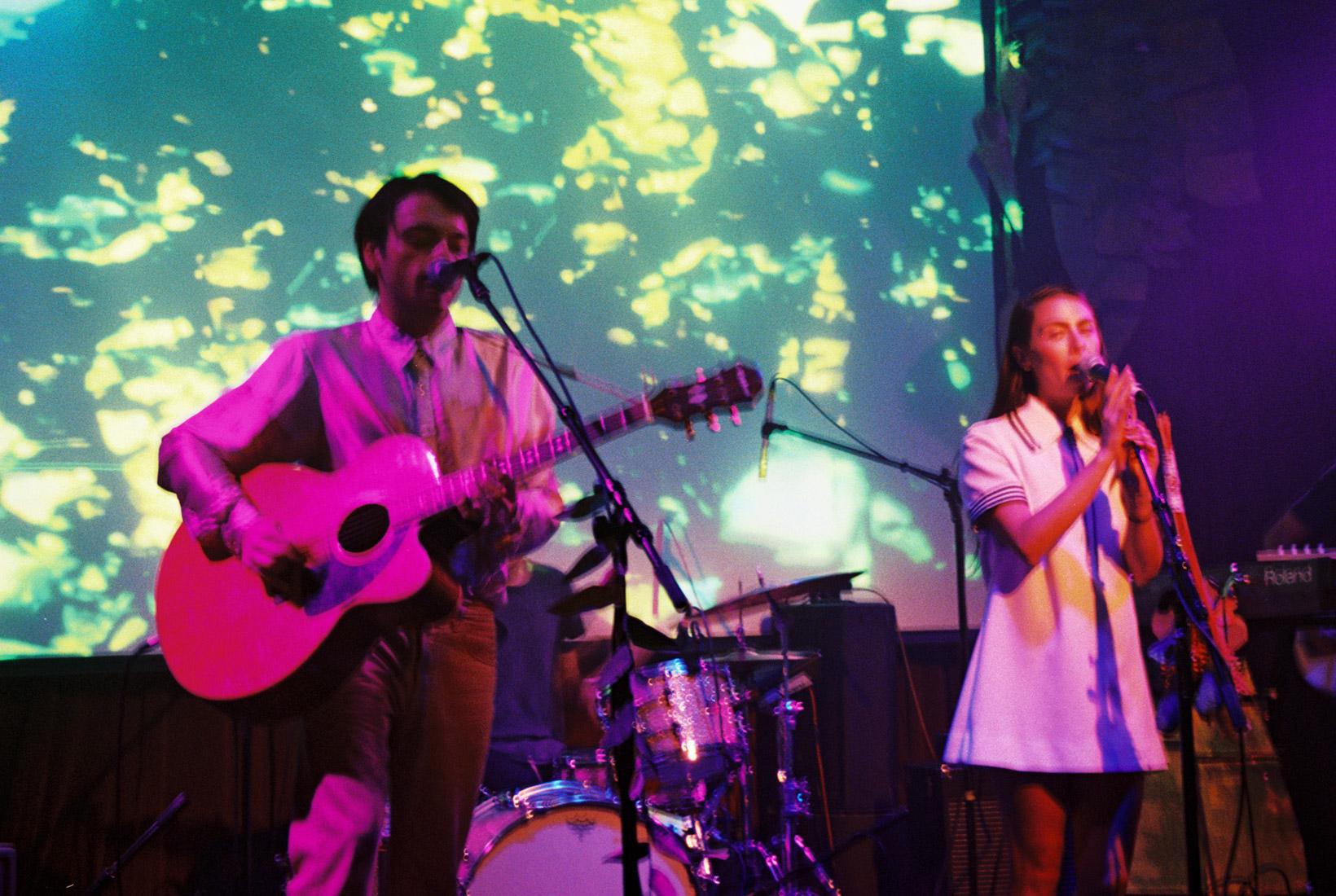 Cara and Garrett performing at Bootleg