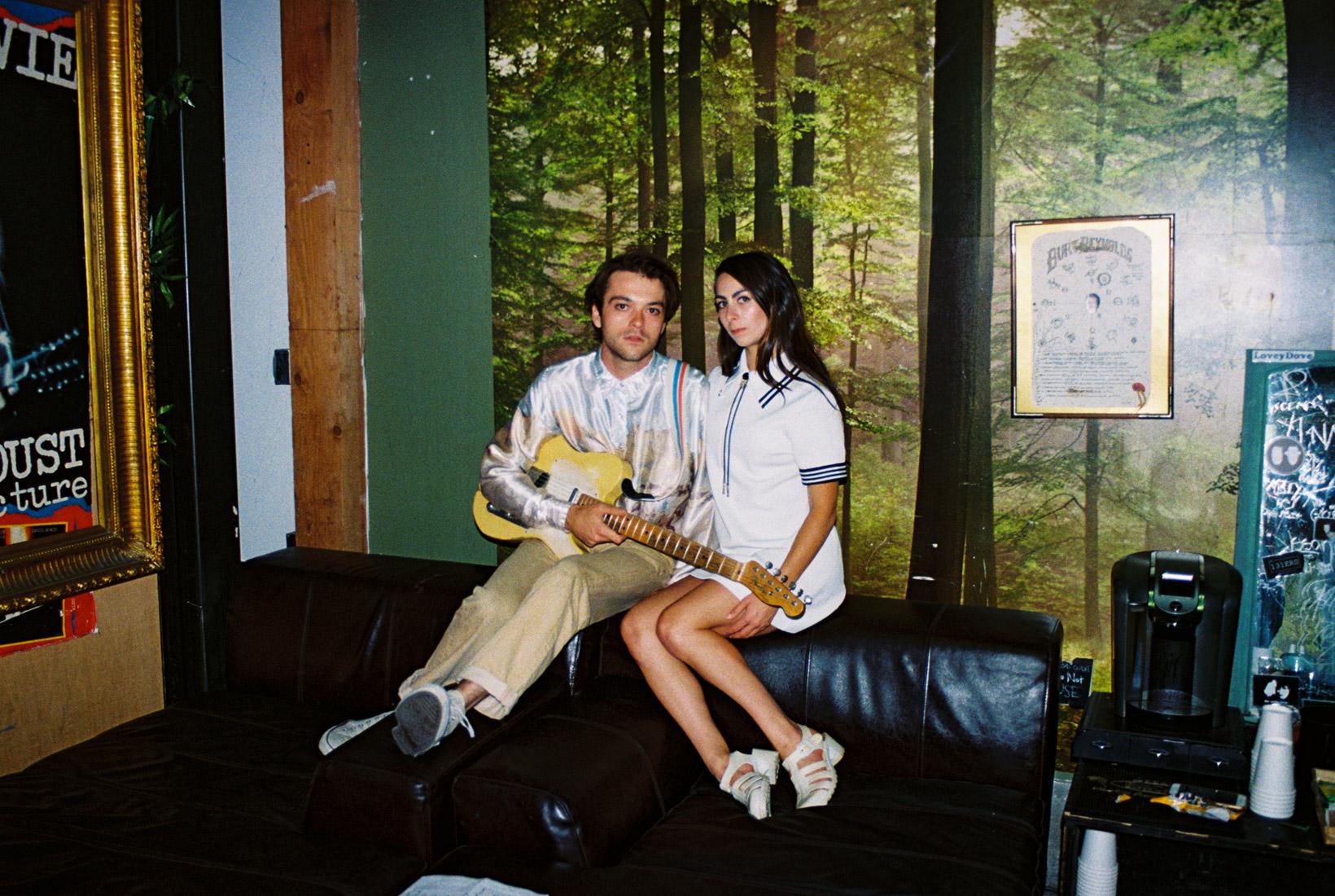 Cara and Garrett backstage at Bootleg