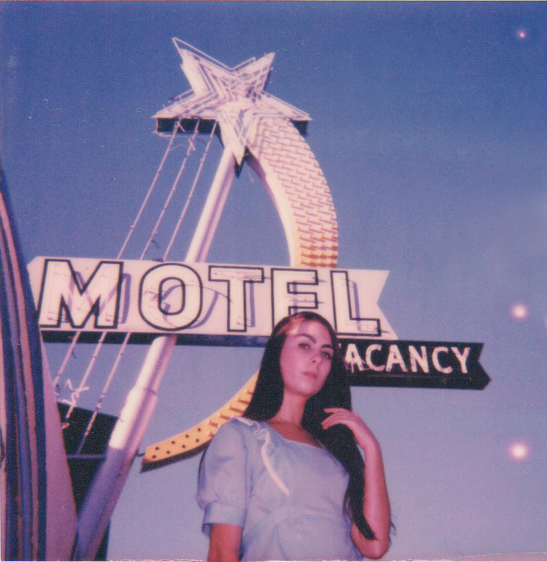 Polaroid of Cara at the Star Motel