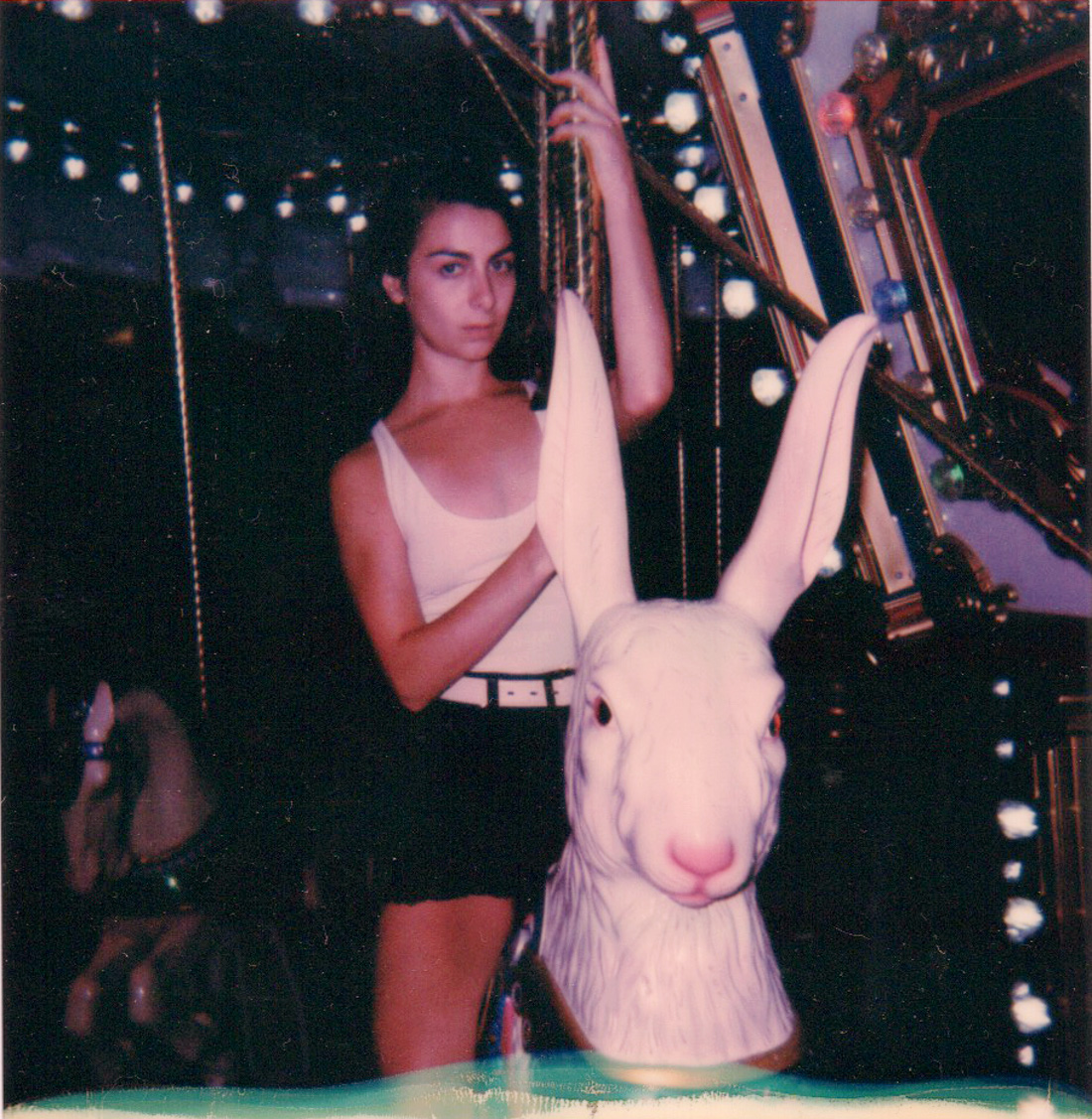 Polaroid of Cara in Circus Circus