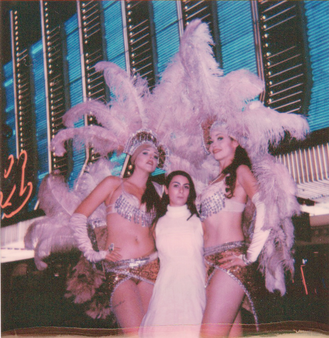 Polaroid of Cara with the Showgirls