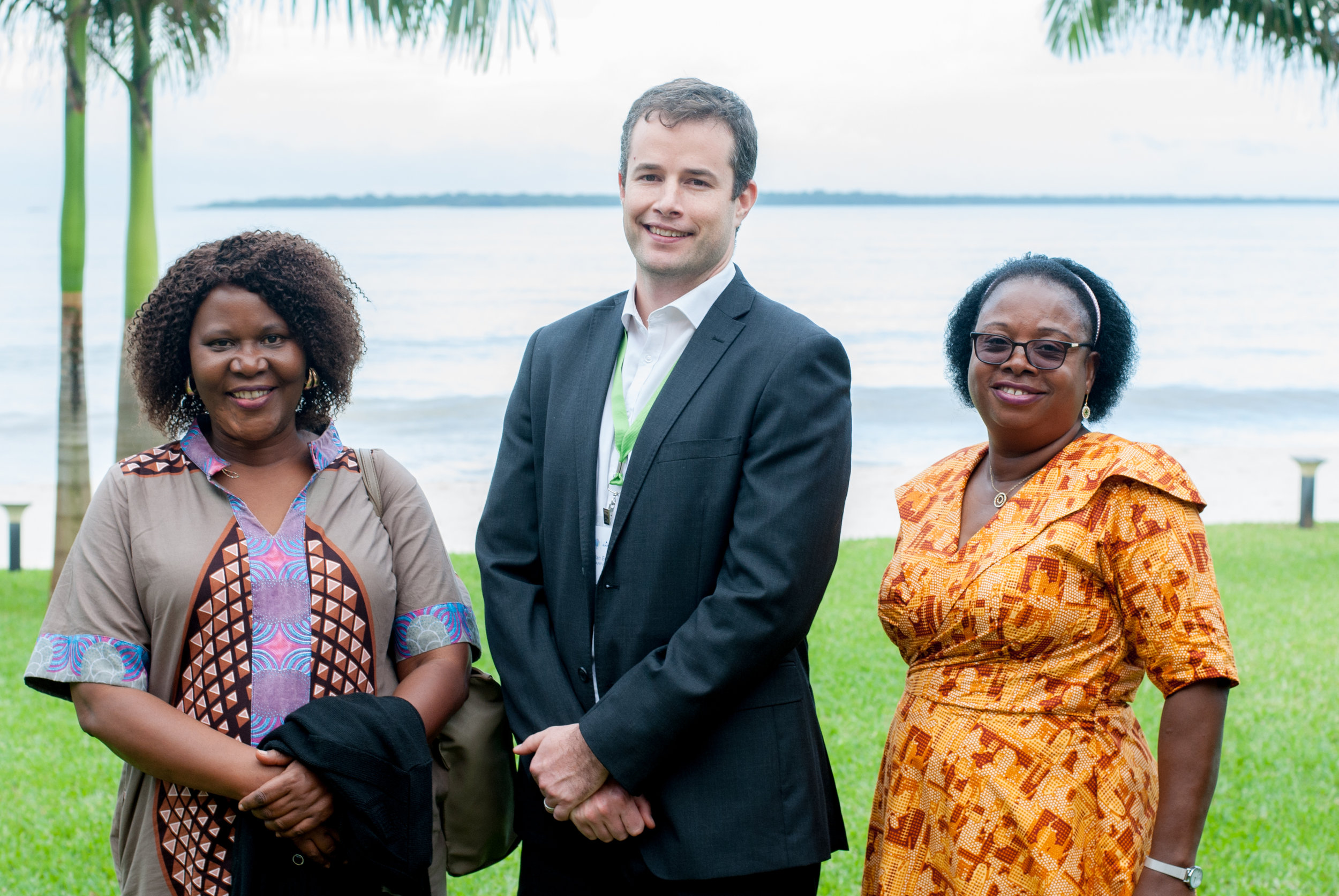 Members of the new Zambia Community Health Team. (From left to right) Dr. Sylvia Chila Simwanza, Dylan Edwards, Rosemary Masilani