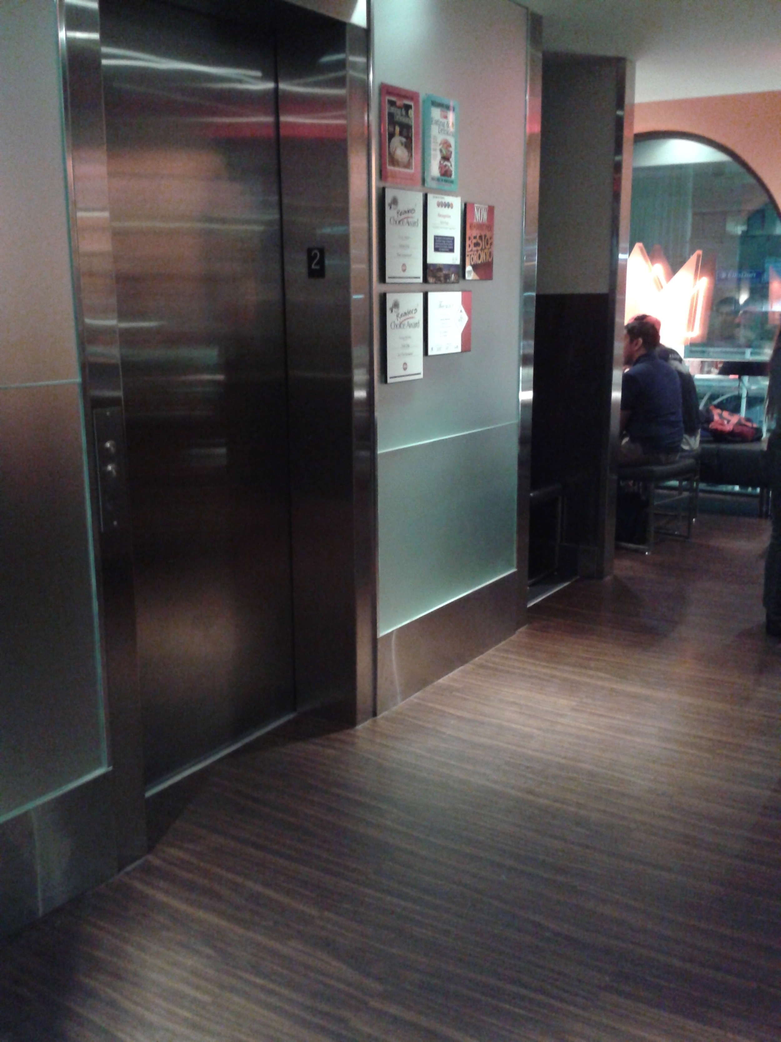 Picture of elevator entrance.