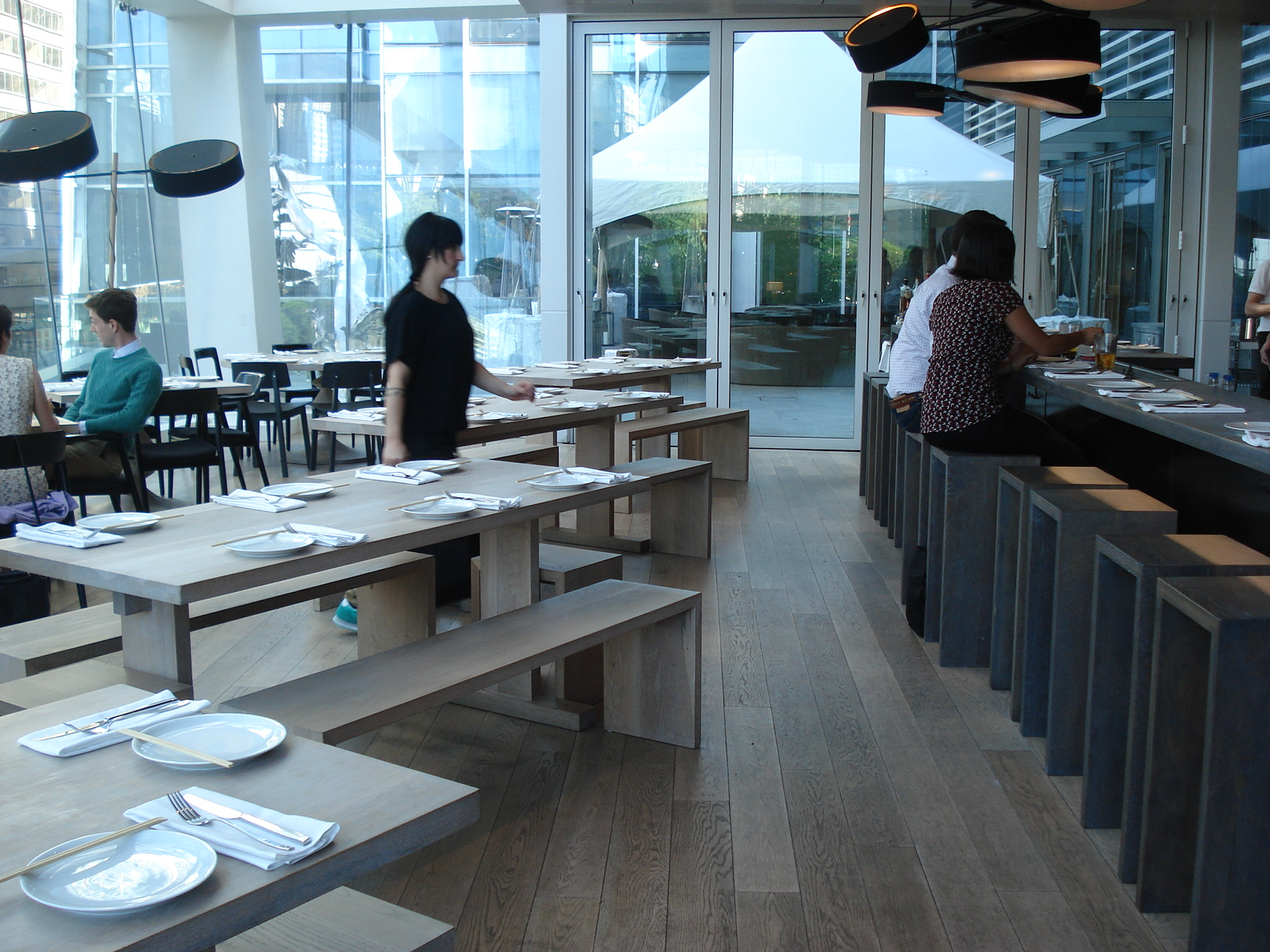 Picture of accessible interior with bar.