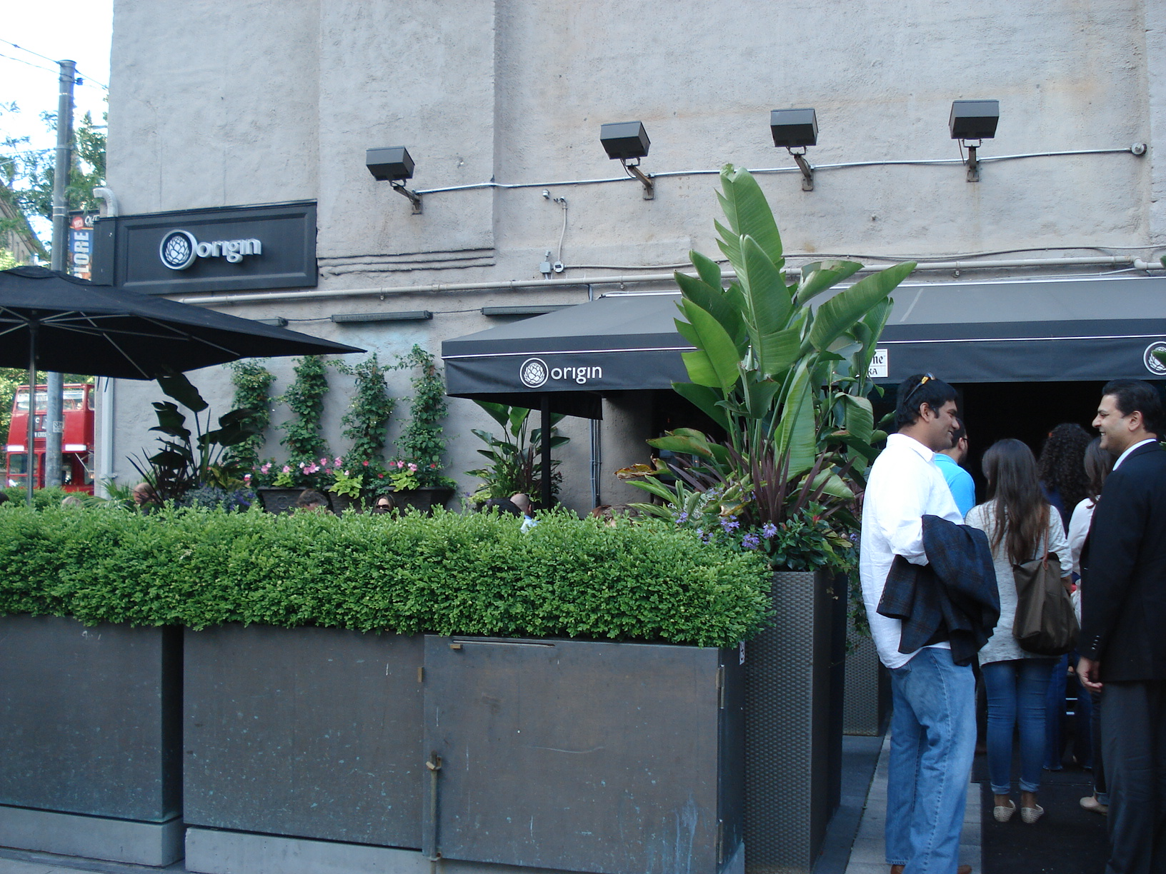 Picture of accessible entrance to patio.