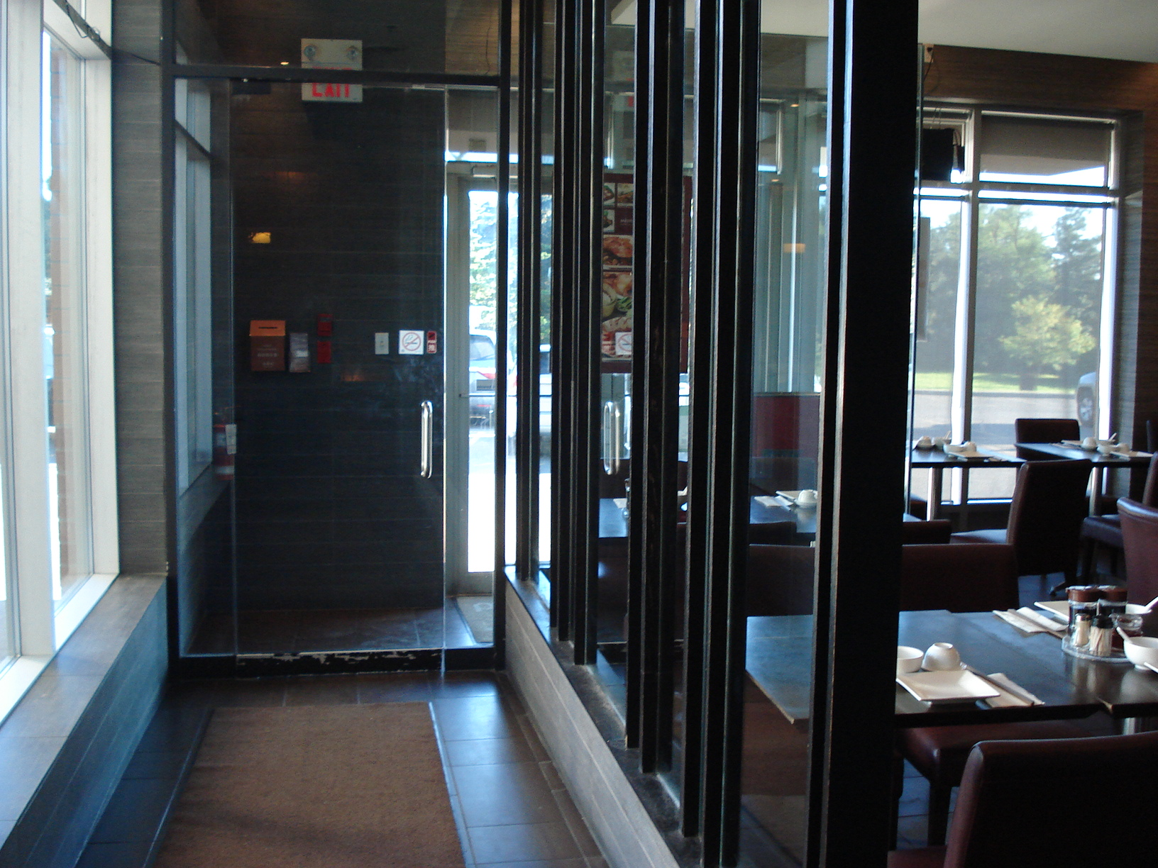 Picture of accessible entrance from interior perspective.