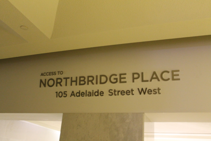 Picture of Northbridge Place signage.