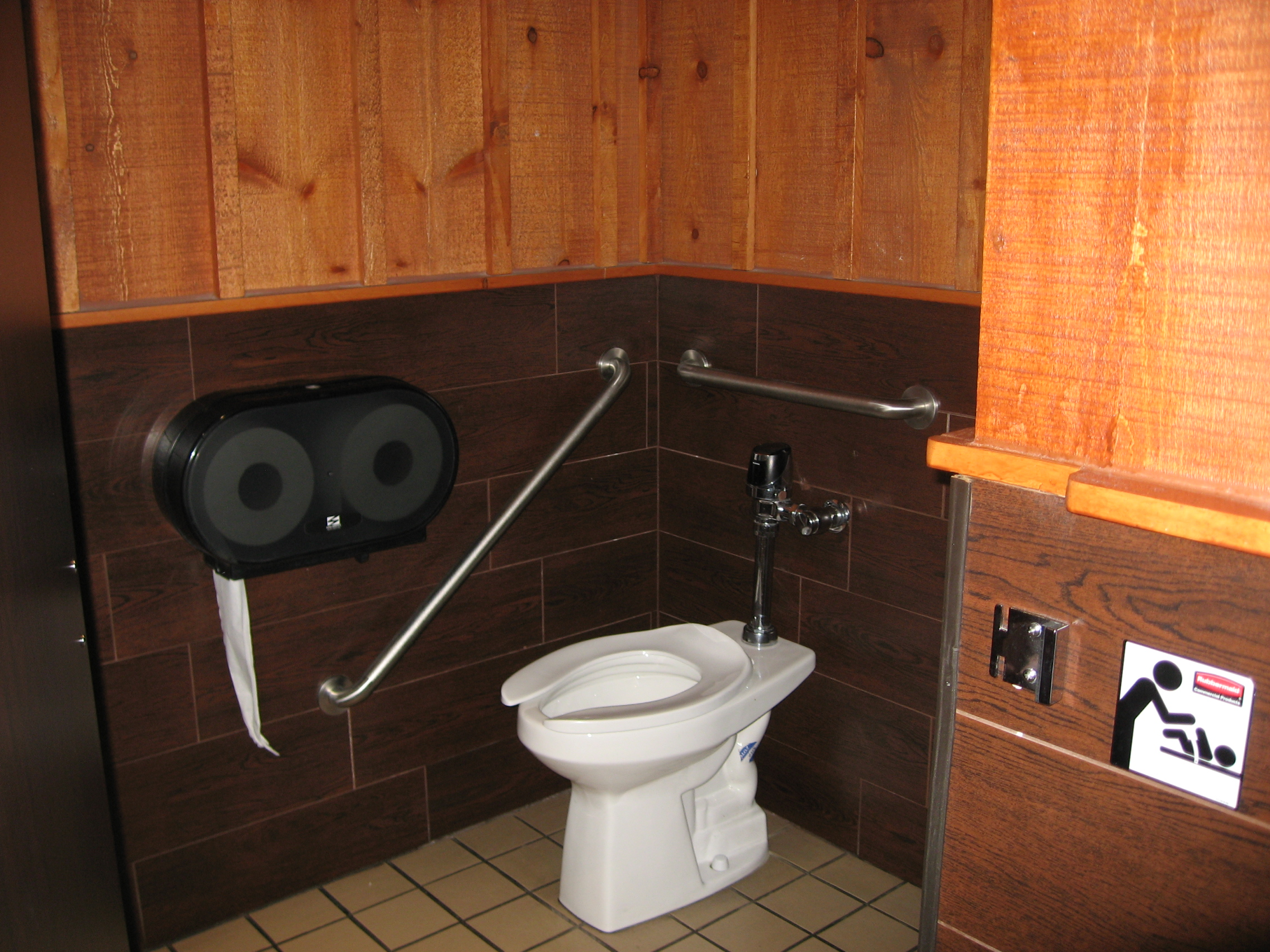 Picture of accessible rest room.