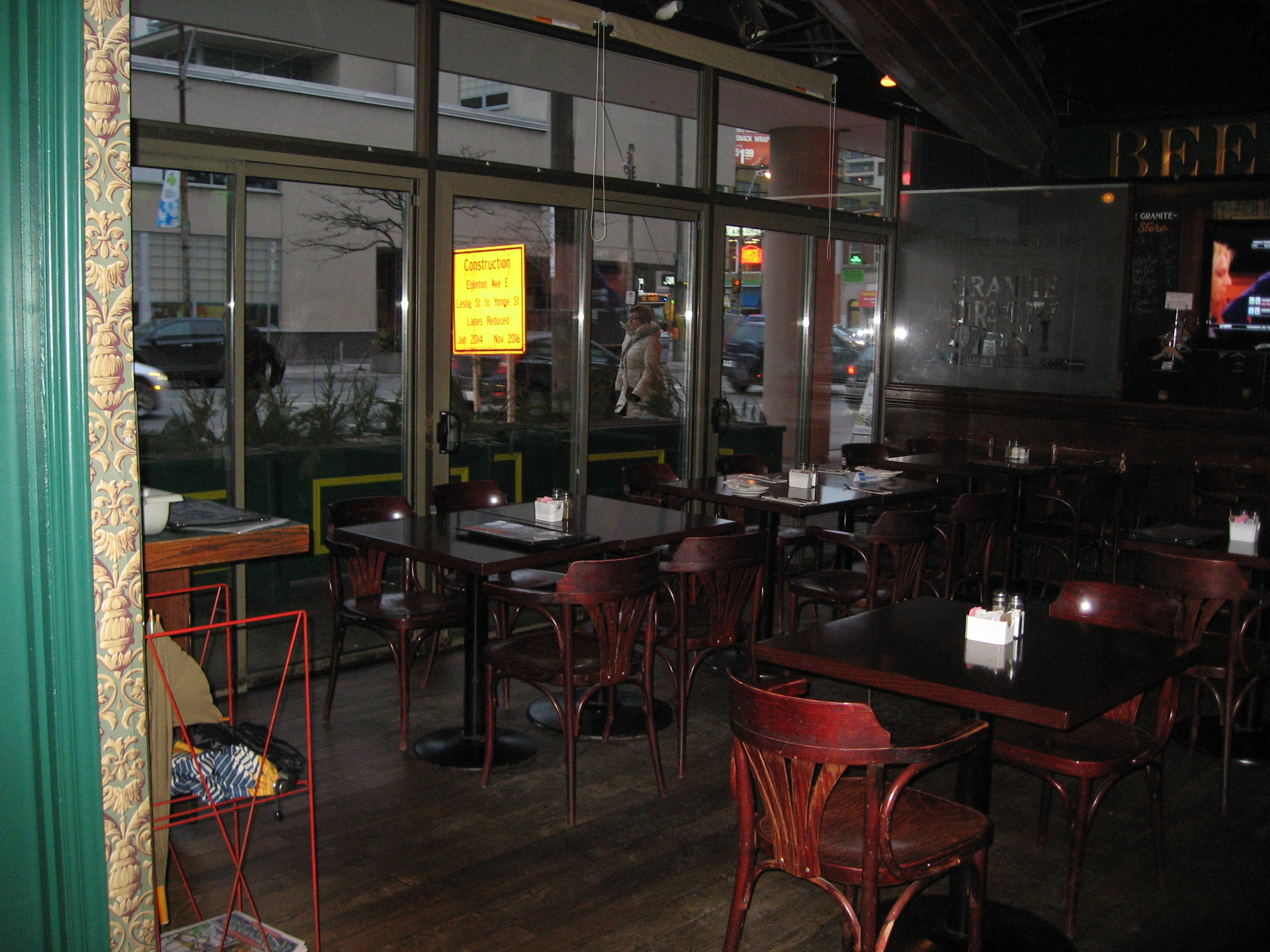 Image of interior of accessible restaurant.