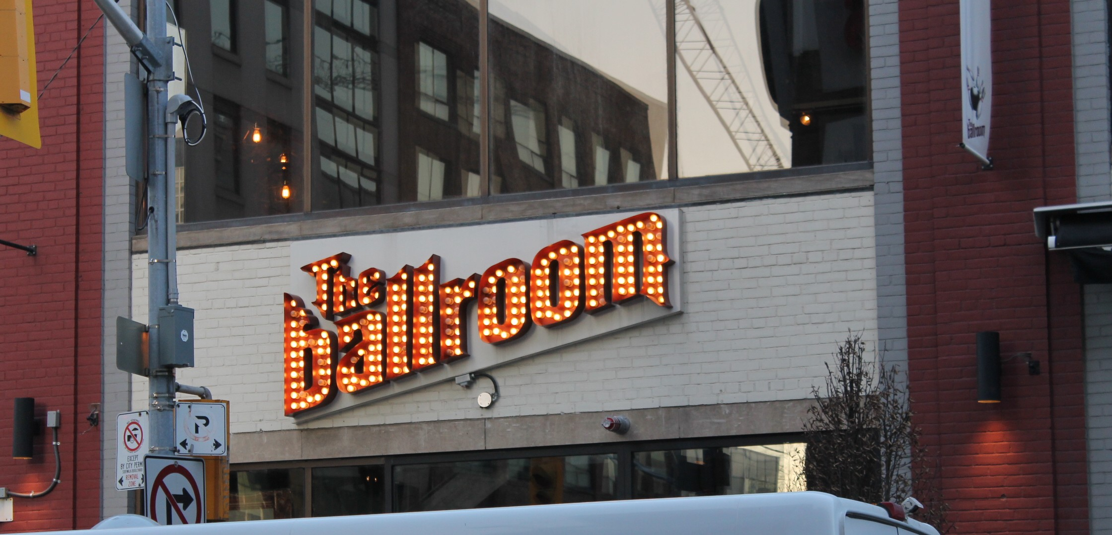 Picture of front signage along John street