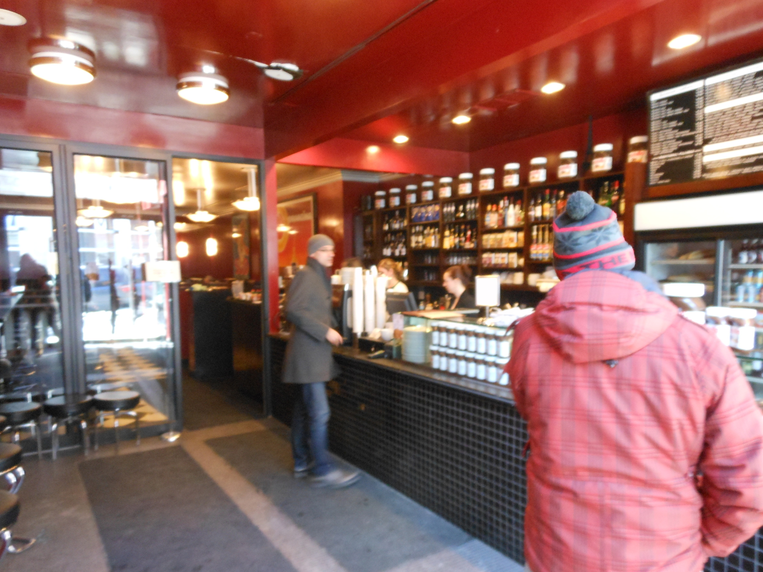 Image of accessible space inside Cafe Crepe.