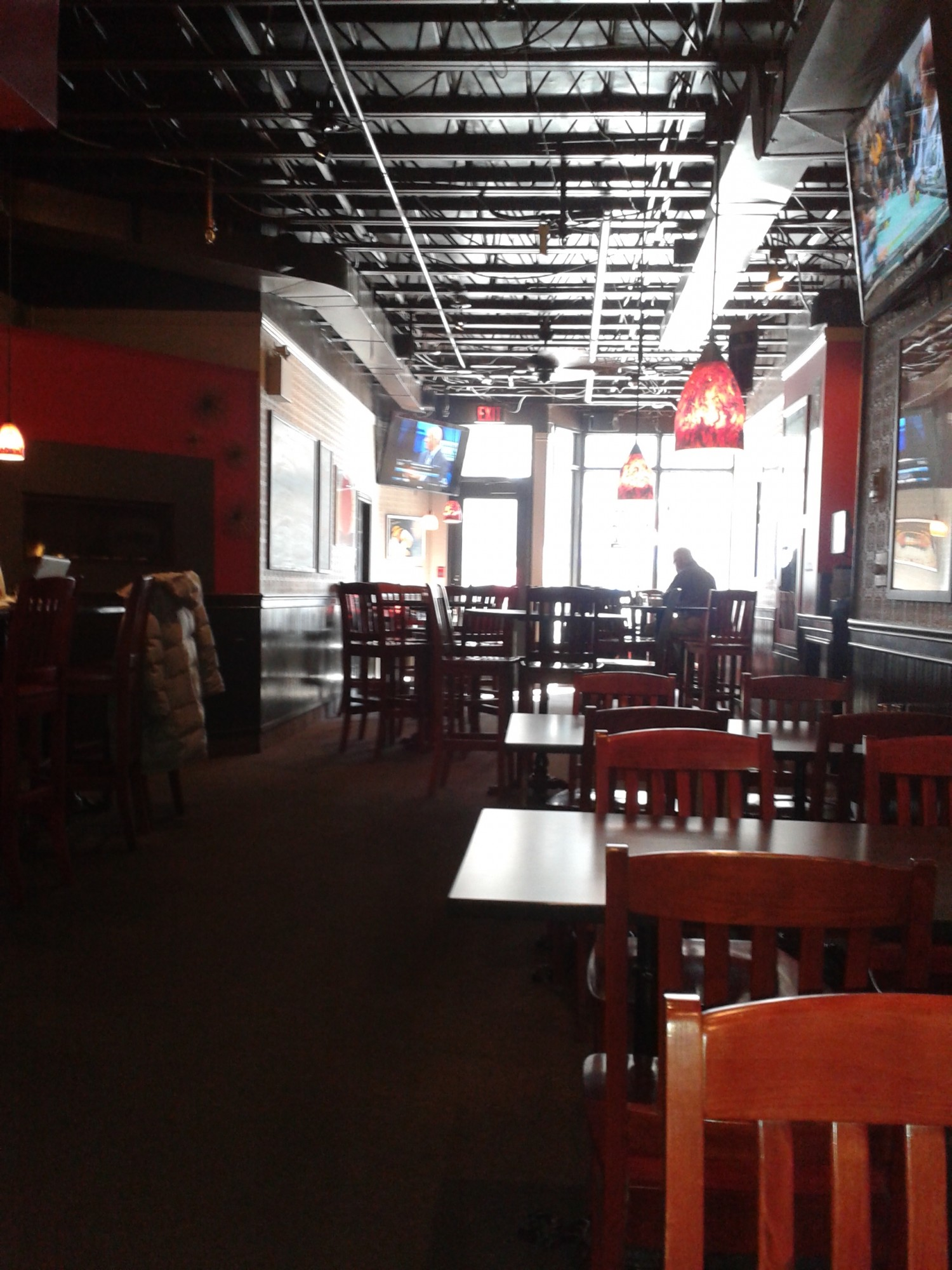 Picture of wide interior of restaurant