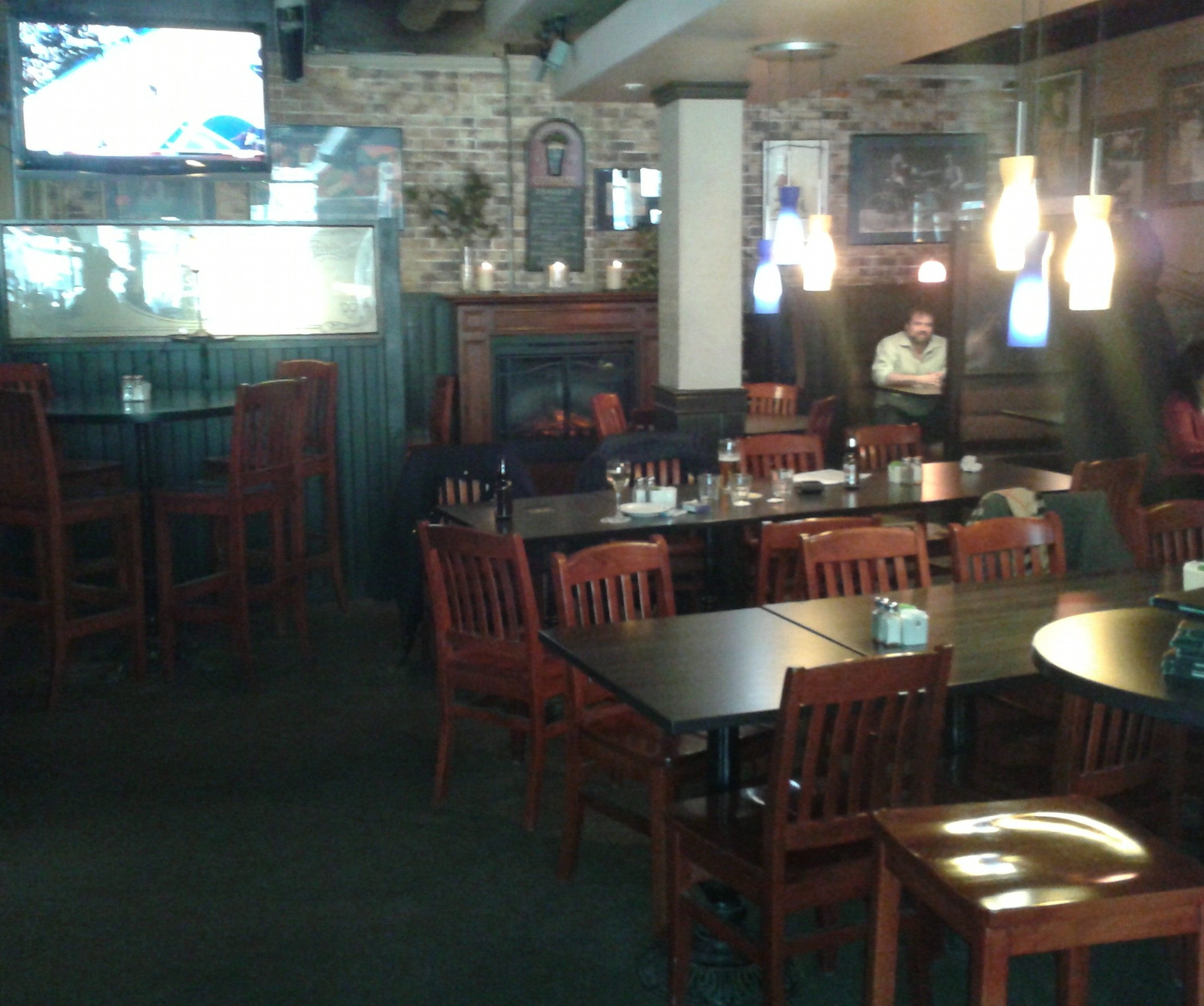 Picture of accessible space inside restaurant.