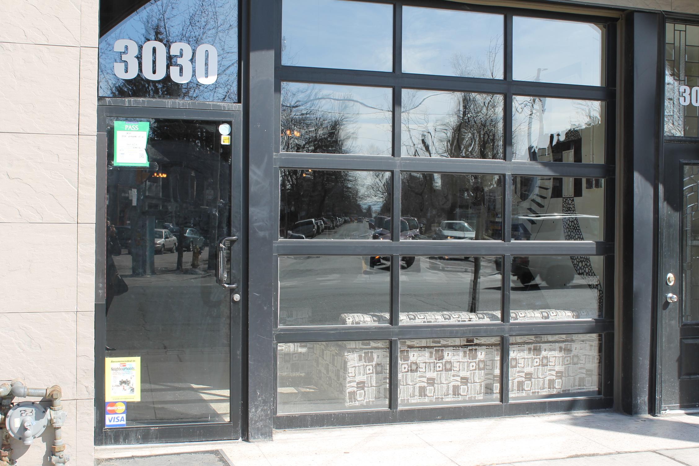 Photo of 3030 Dundas' accessible entrance.