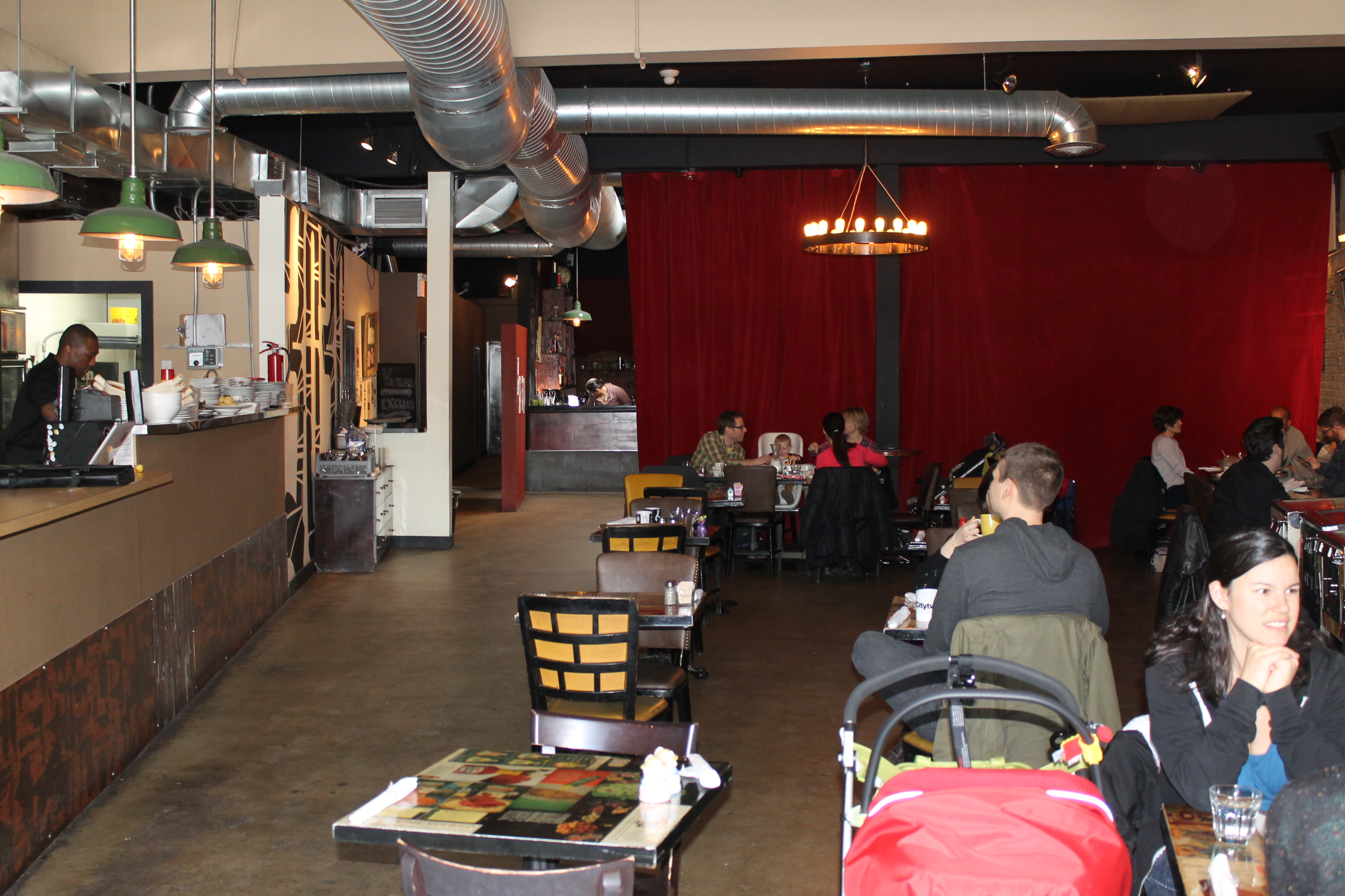 Picture of the accessible dining area.