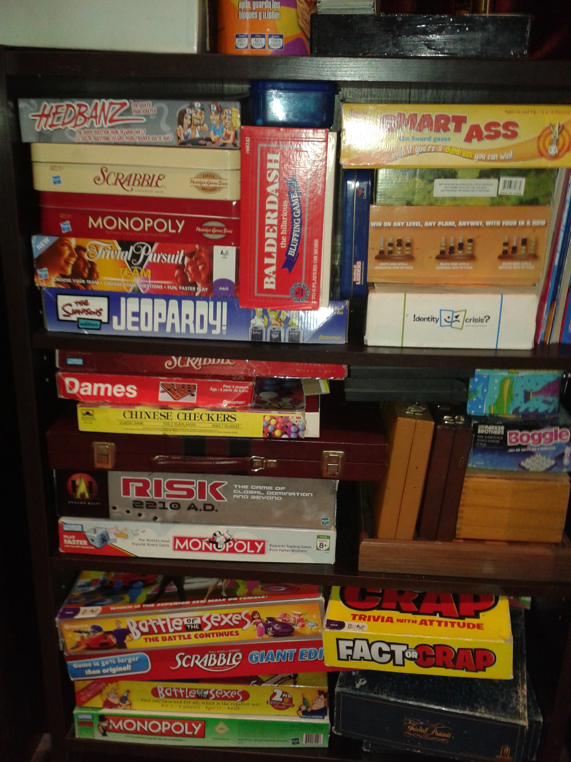 Picture of the awesome board game collection.