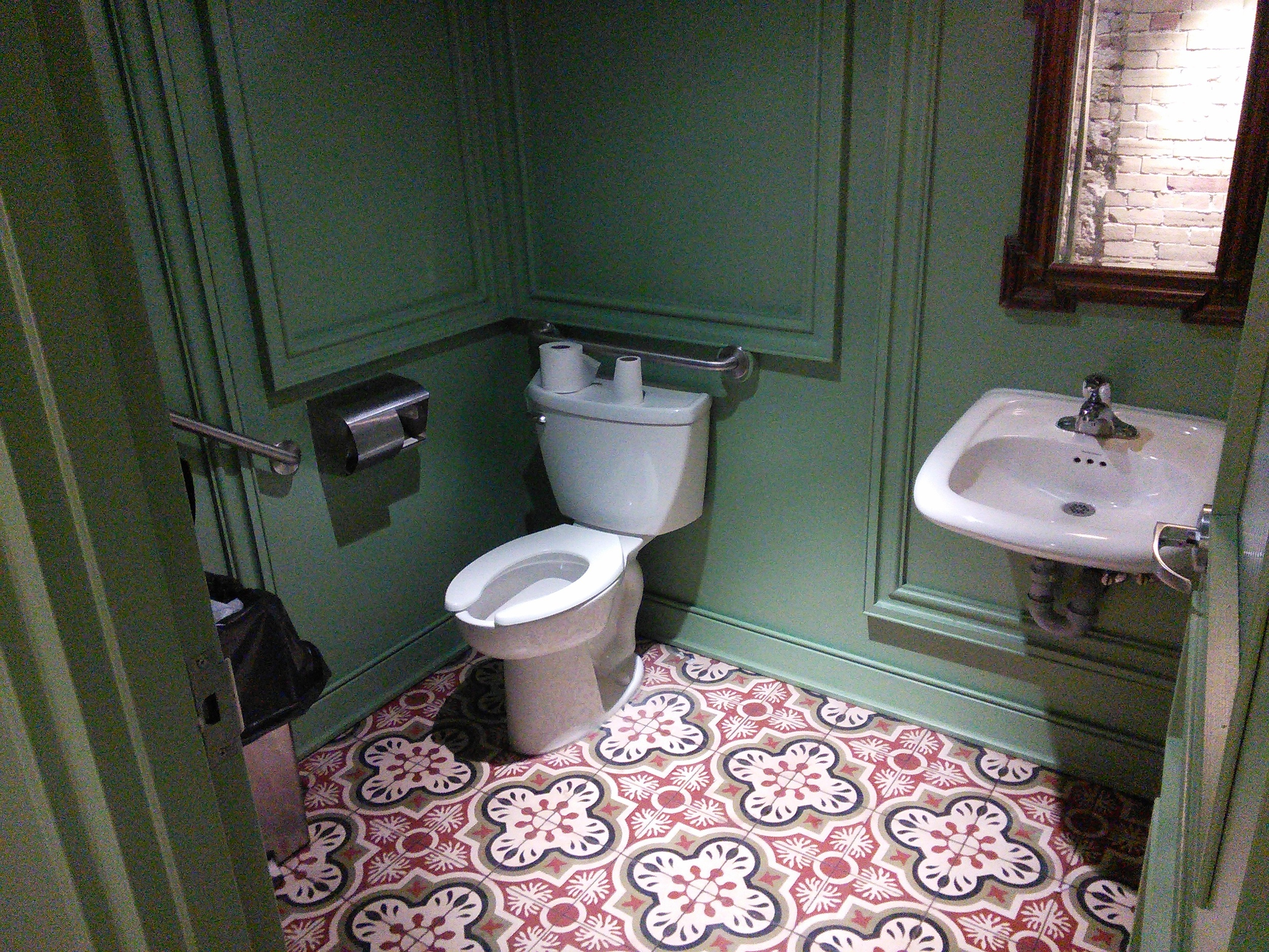 Picture of the accessible bathroom stall.