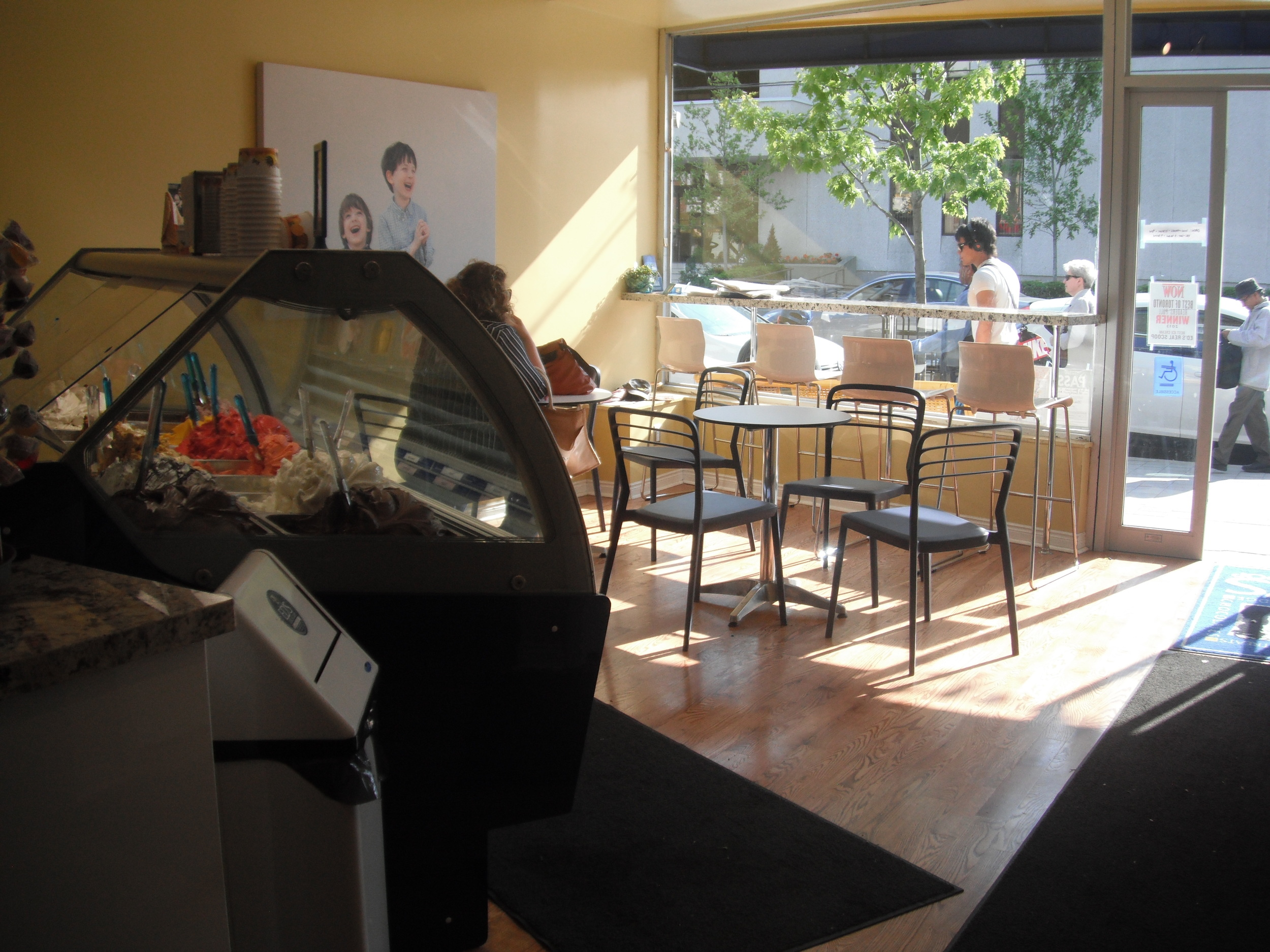 Accessible interior restaurant view.