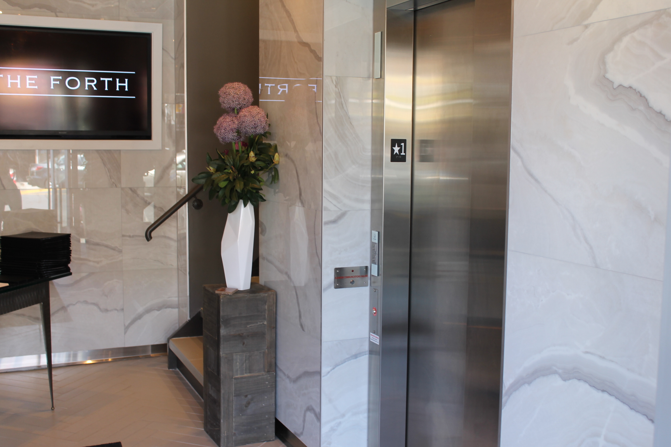 Picture of the accessible elevator.