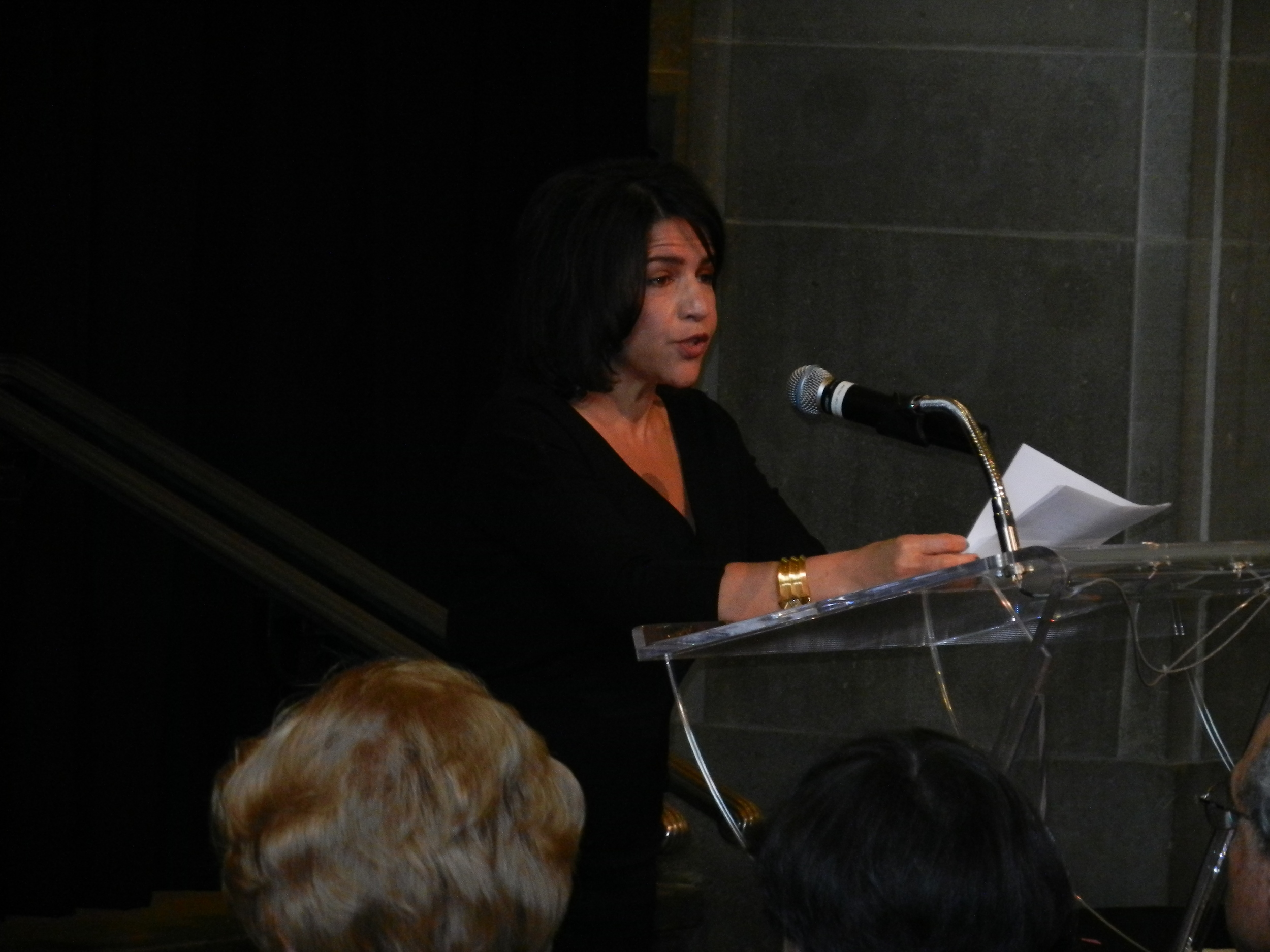 Picture of Izzy Camilleri giving her speech.