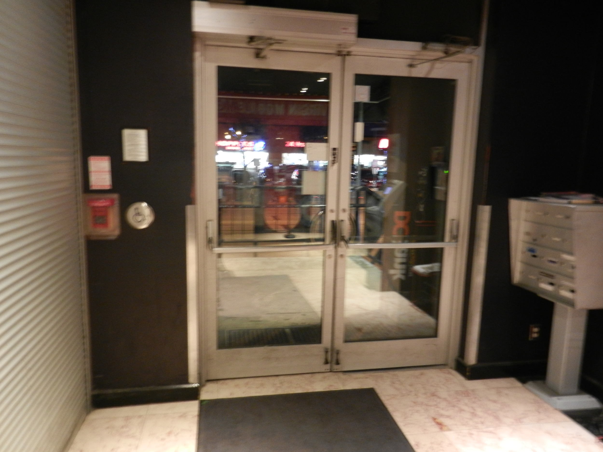 Picture of double door main entrance.