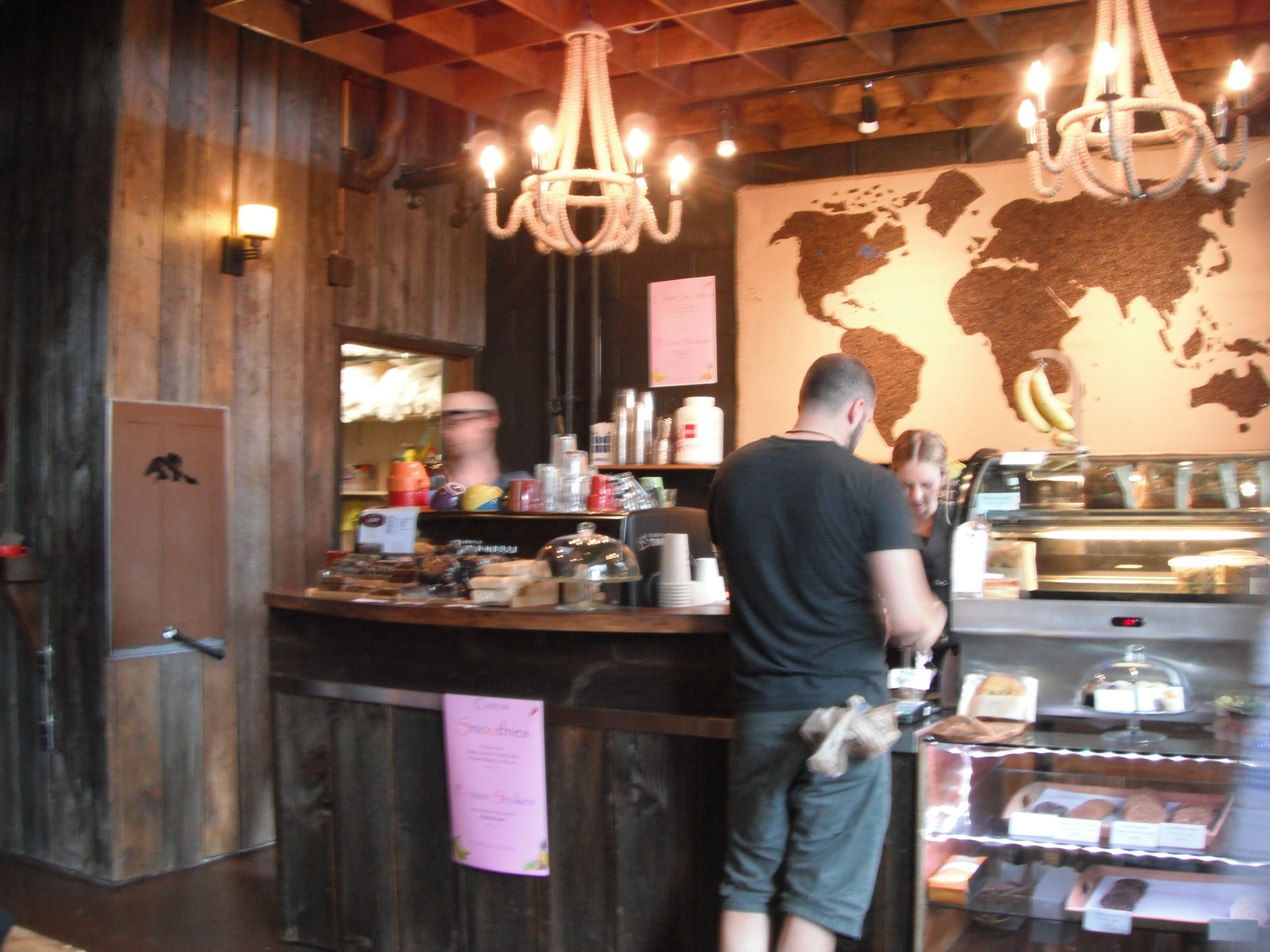 Picture of espresso bar and cash counter