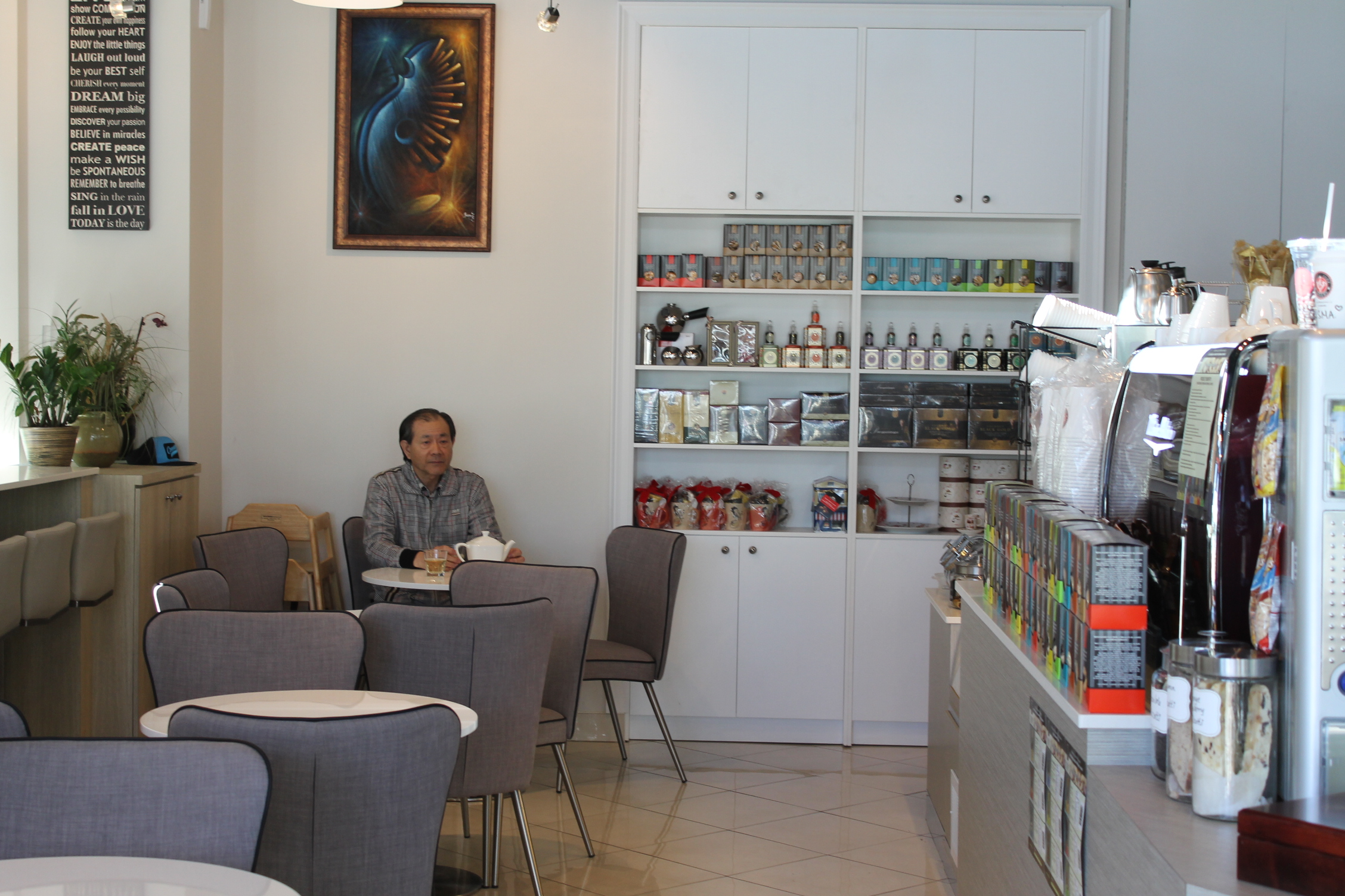 Picture of accessible interior of coffee shop.