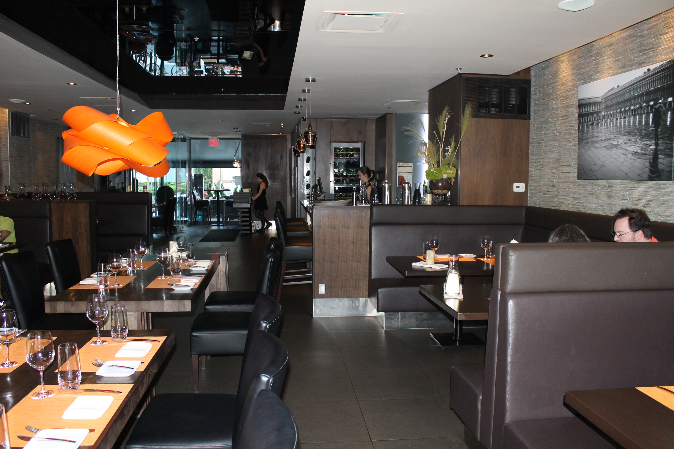 Picture of accessible dining area of restaurant.