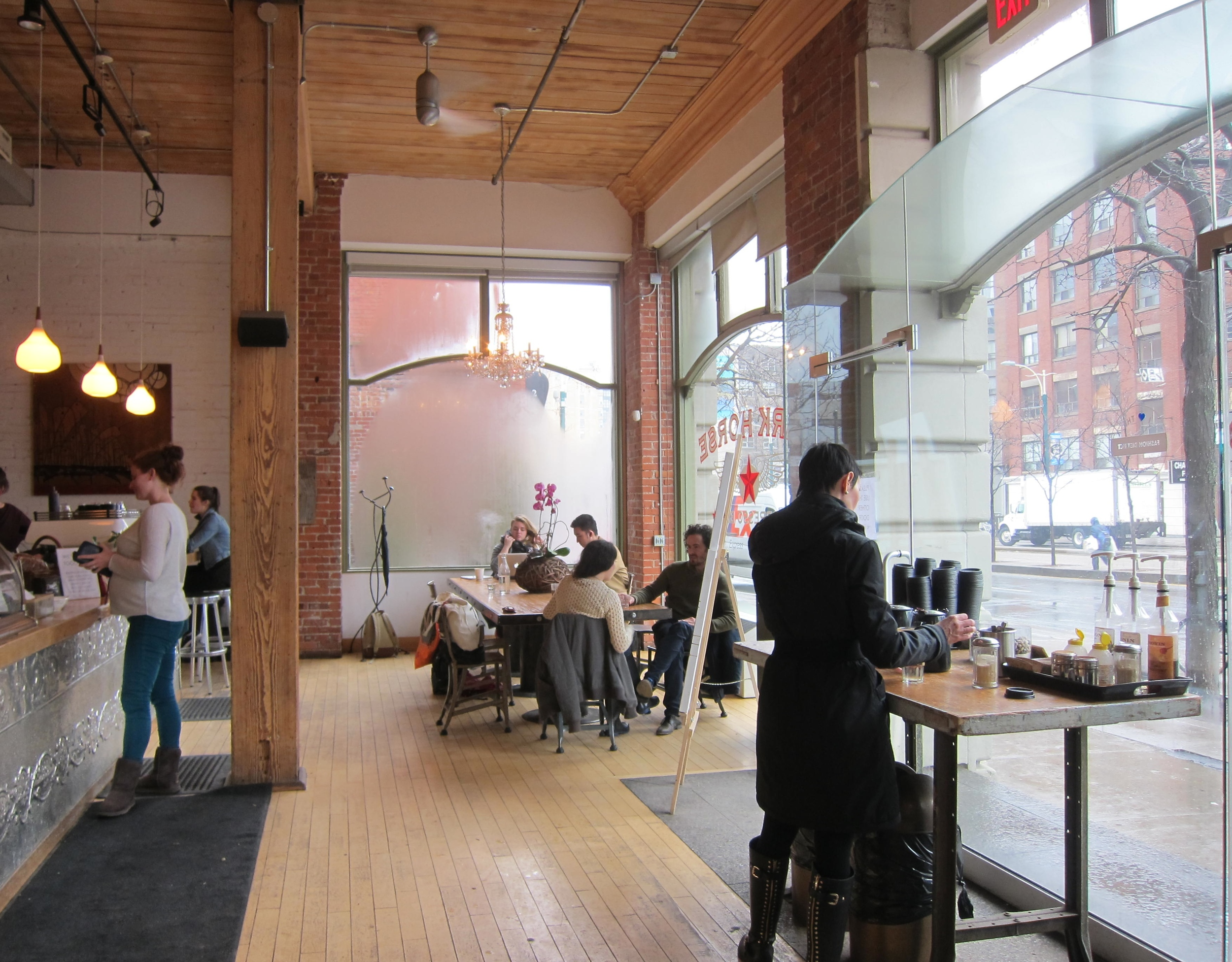 Picture of accessible interior of cafe.