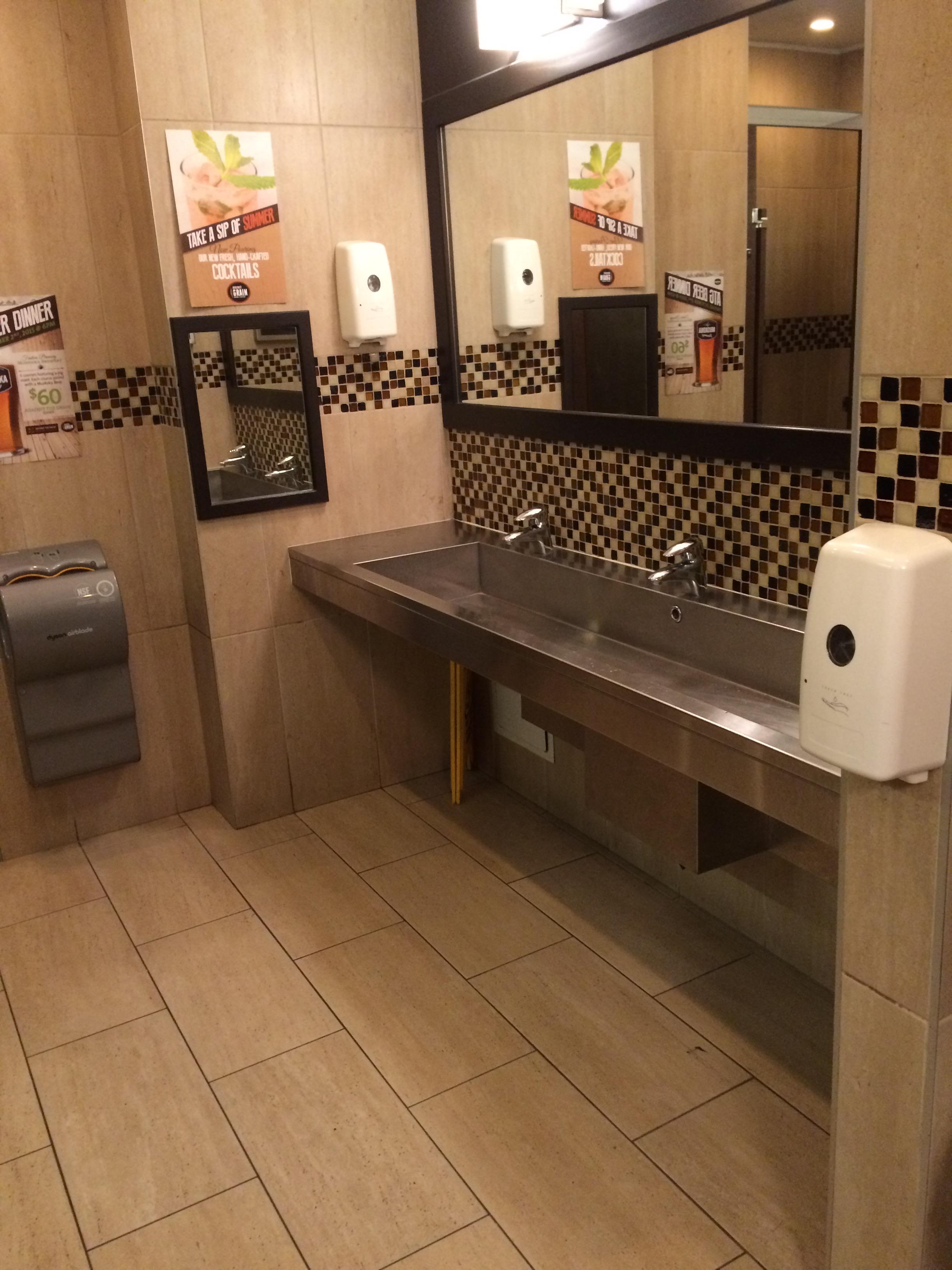 Image of accessible bathroom sink area.