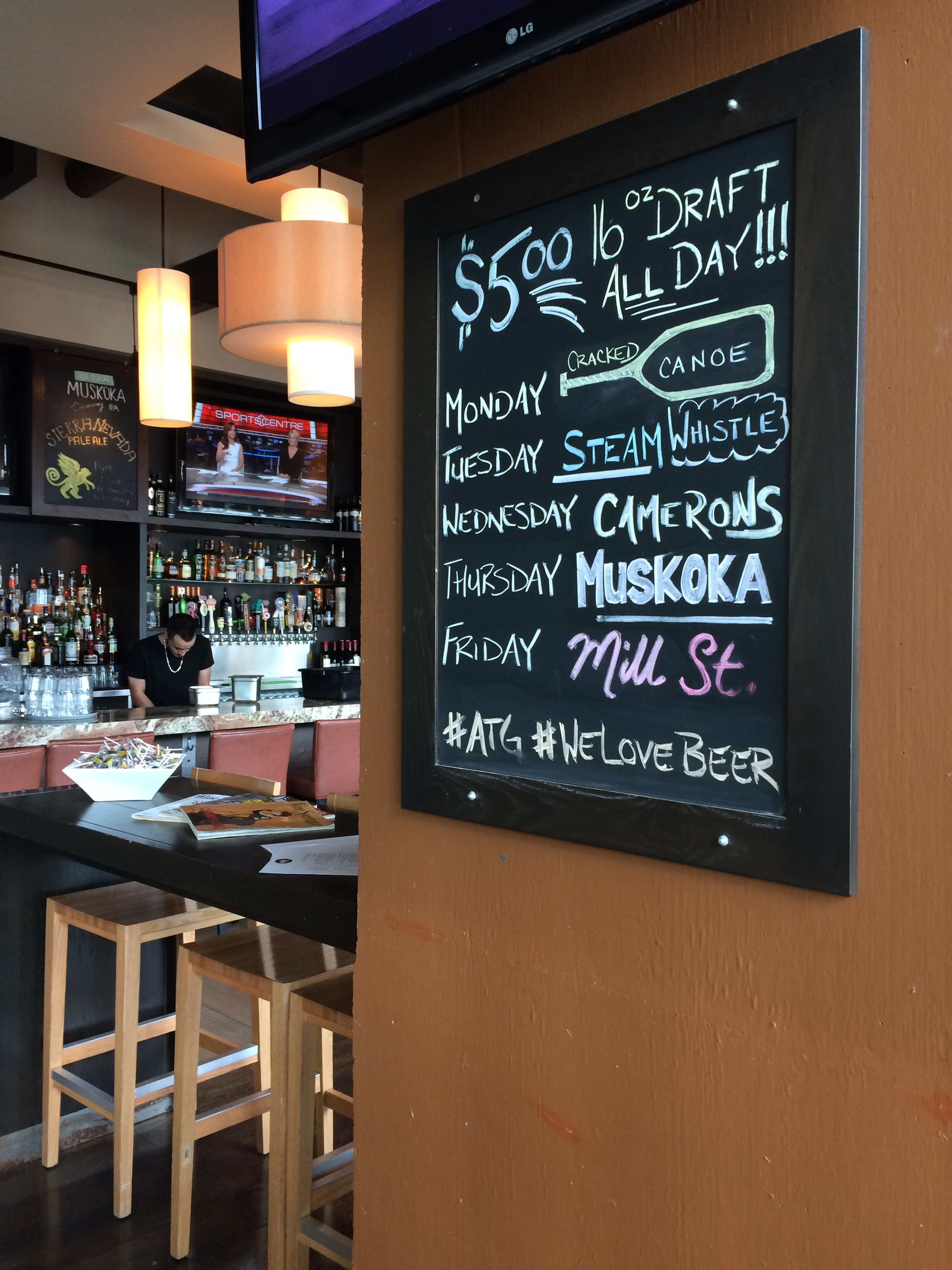Image of the beer specials.