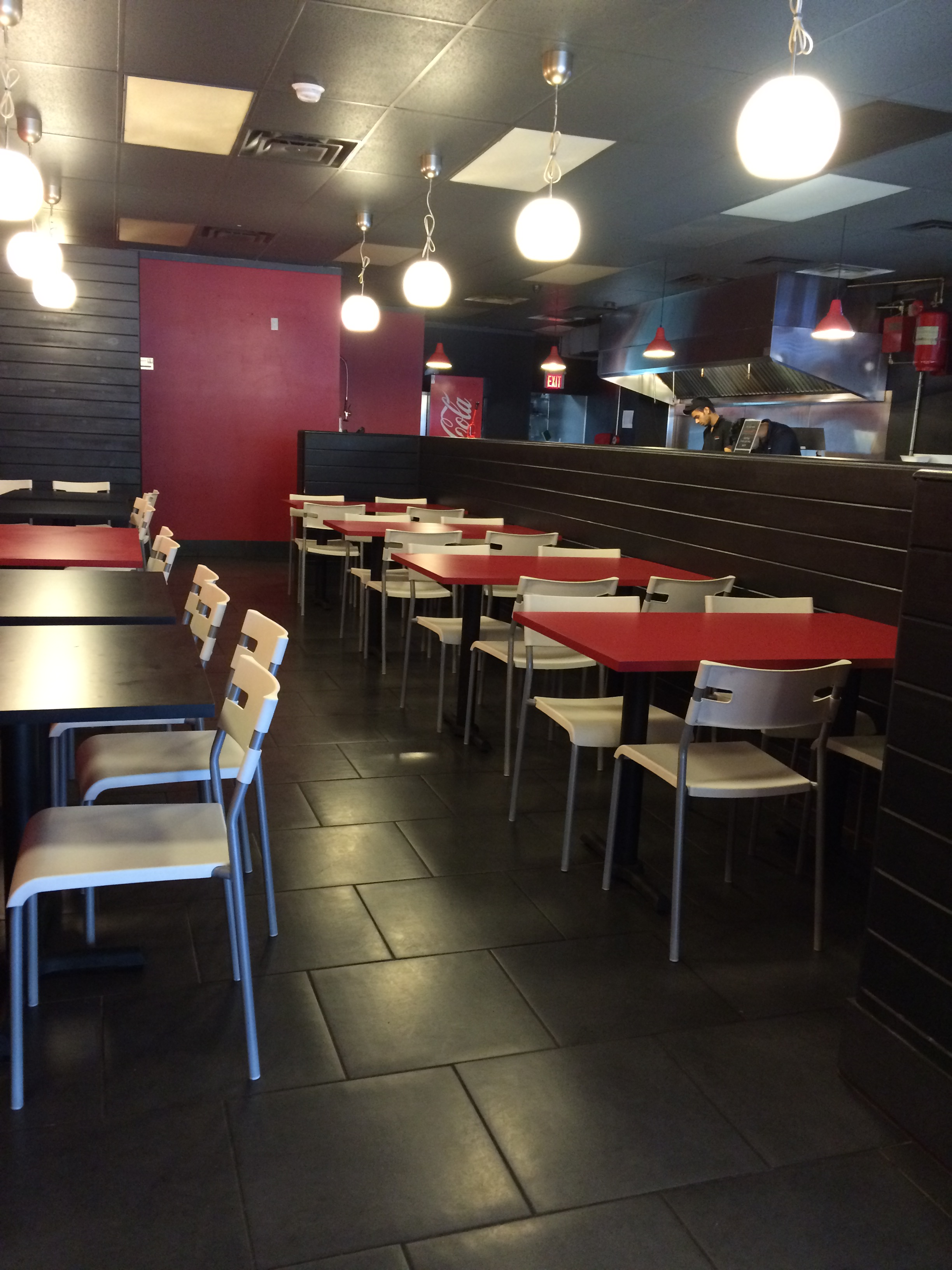 Photo of accessible dining area at Grillies.