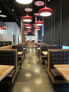 Picture of accessible interior, Pizzeria Libretto.