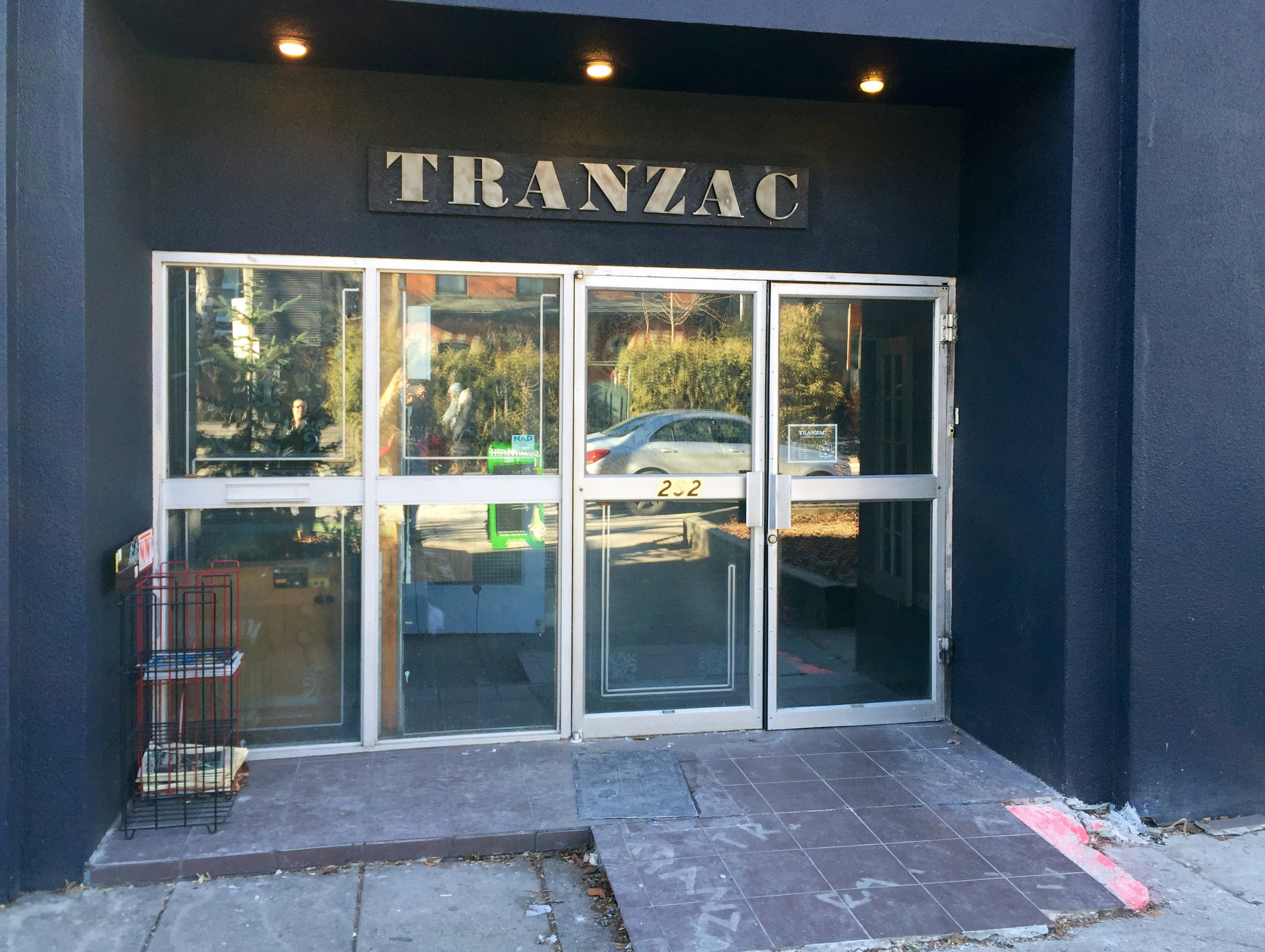 Picture of the front entrance of the Tranzac