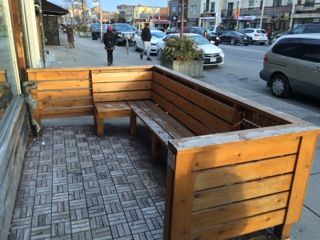 Picture of sidewalk level patio