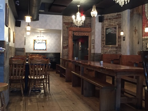 Picture of varied tables inside The Wren