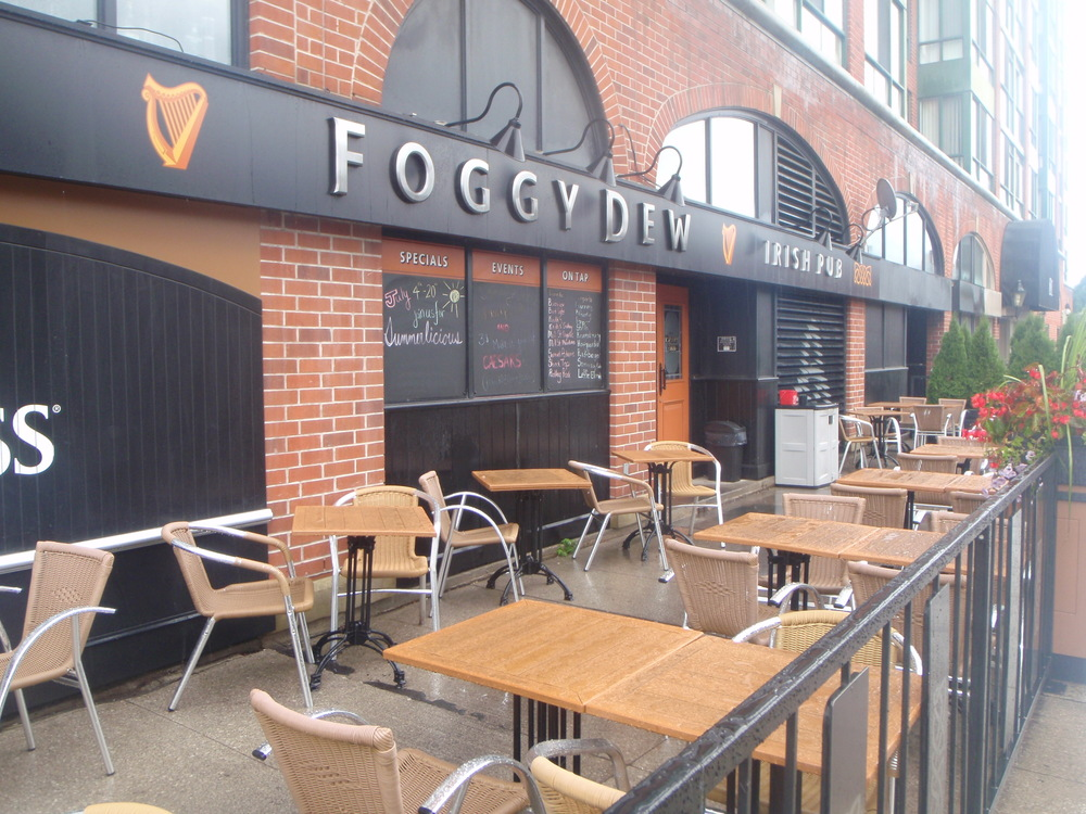 Patio at the foggy dew