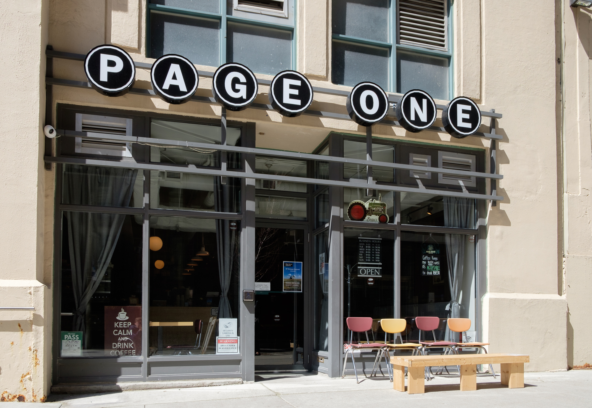 picture of front entrance to page one